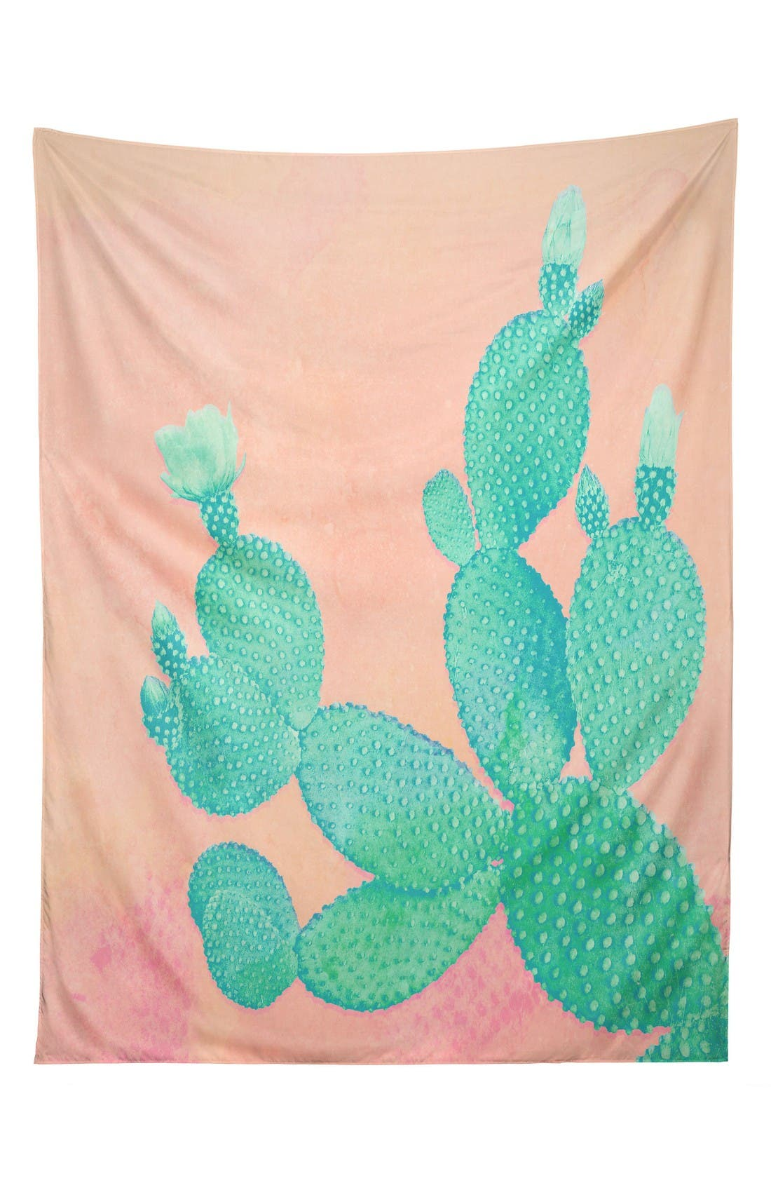 Pastel Cactus Tapestry,                         Main,                         color, Pink/ Green