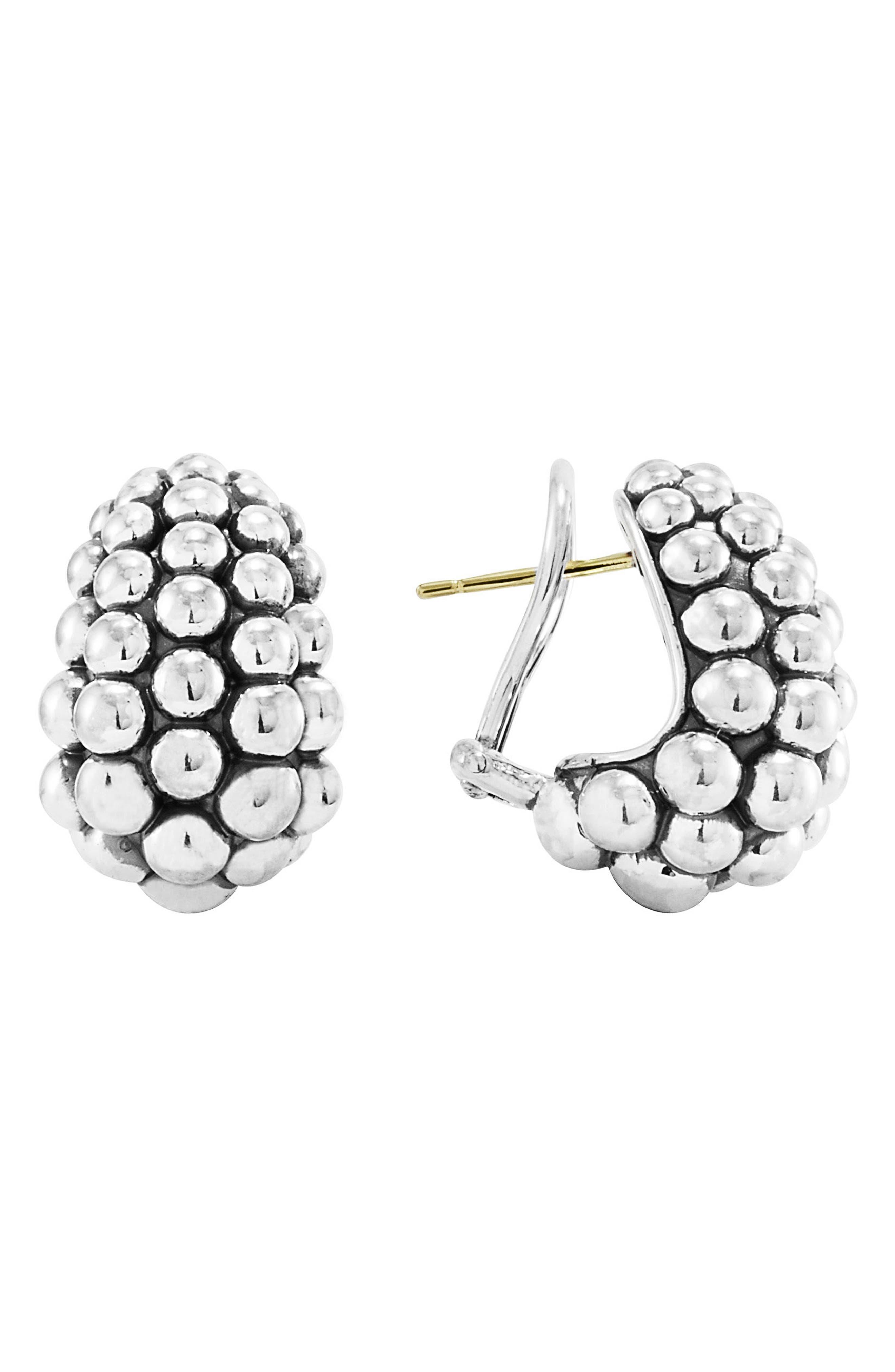Alternate Image 1 Selected - LAGOS 'Bold' Caviar Hoop Earrings