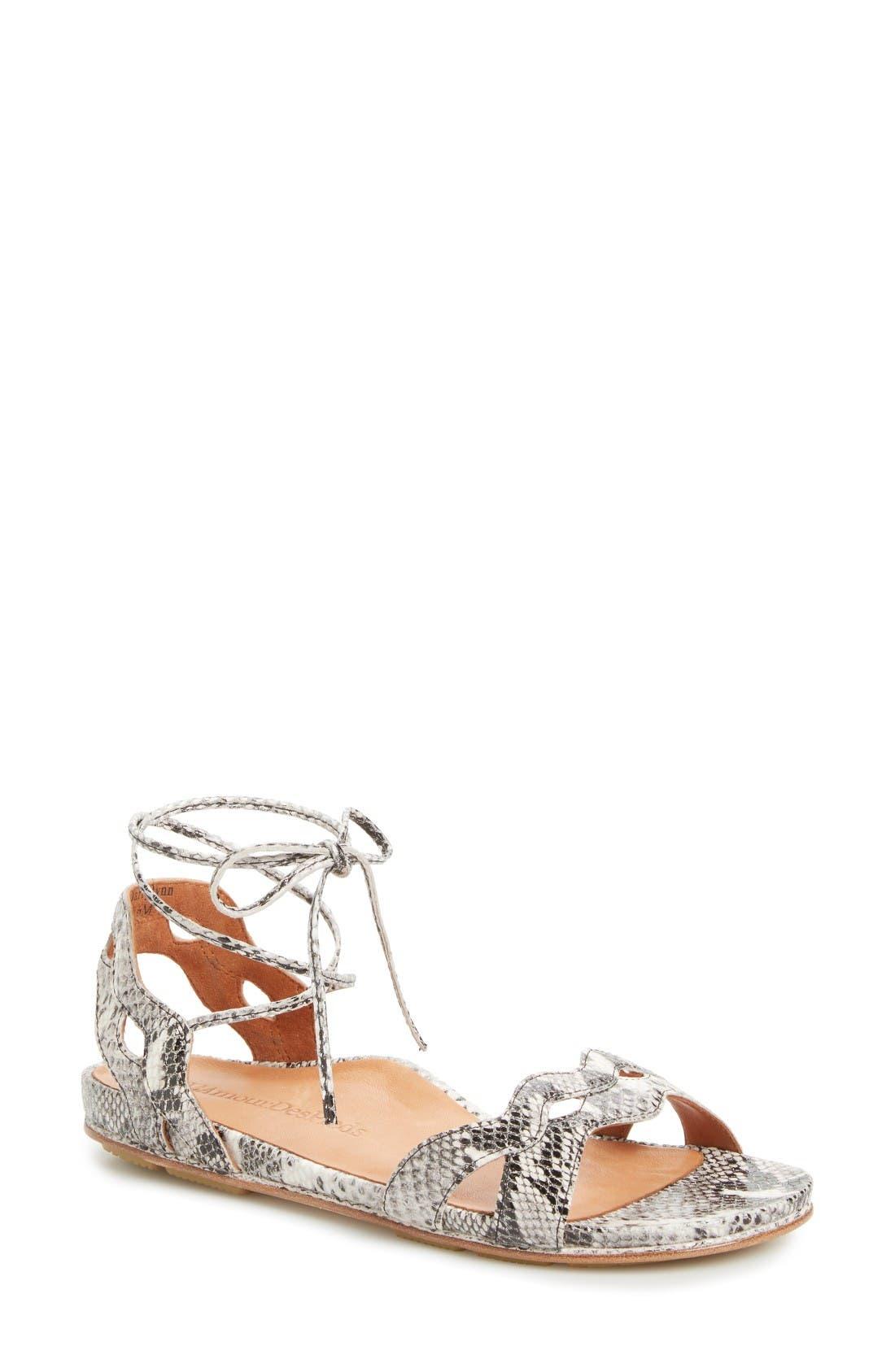 L'Amour des Pieds Darrylynn Wraparound Lace-Up Sandal (Women)