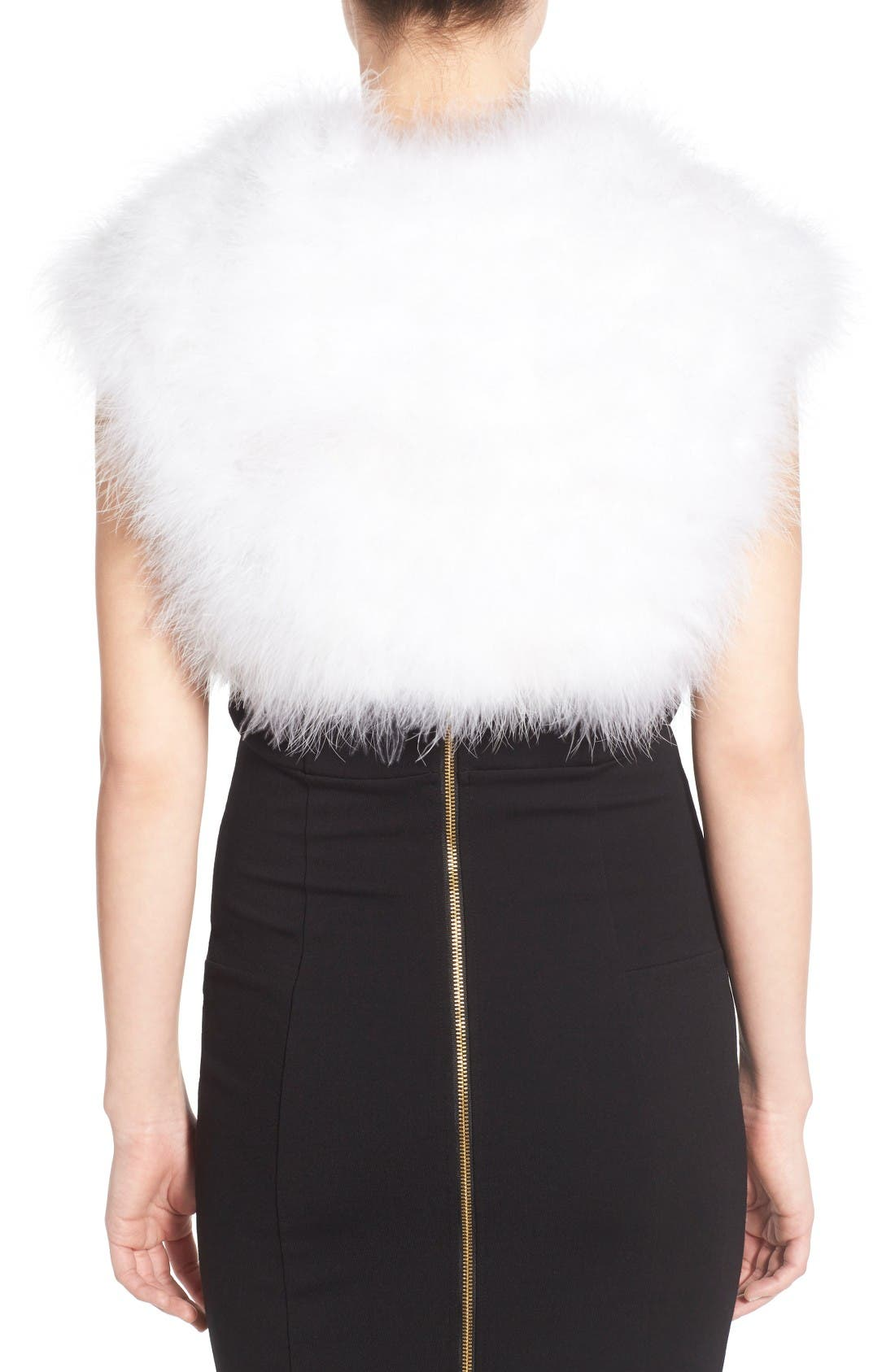 Alternate Image 2  - Badgley Mischka Feather Shrug