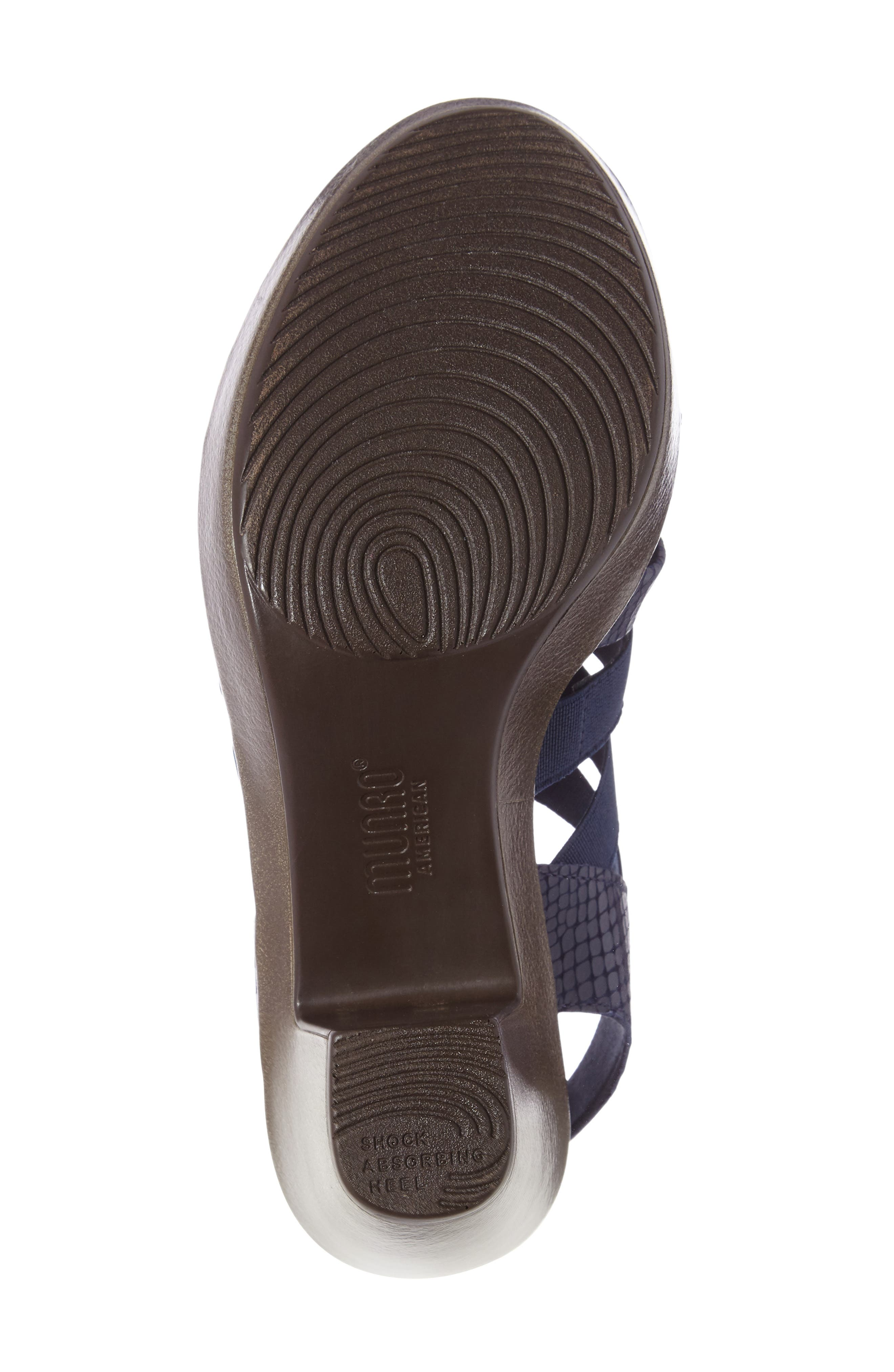'Cookie' Slingback Sandal,                             Alternate thumbnail 4, color,                             Blue Leather