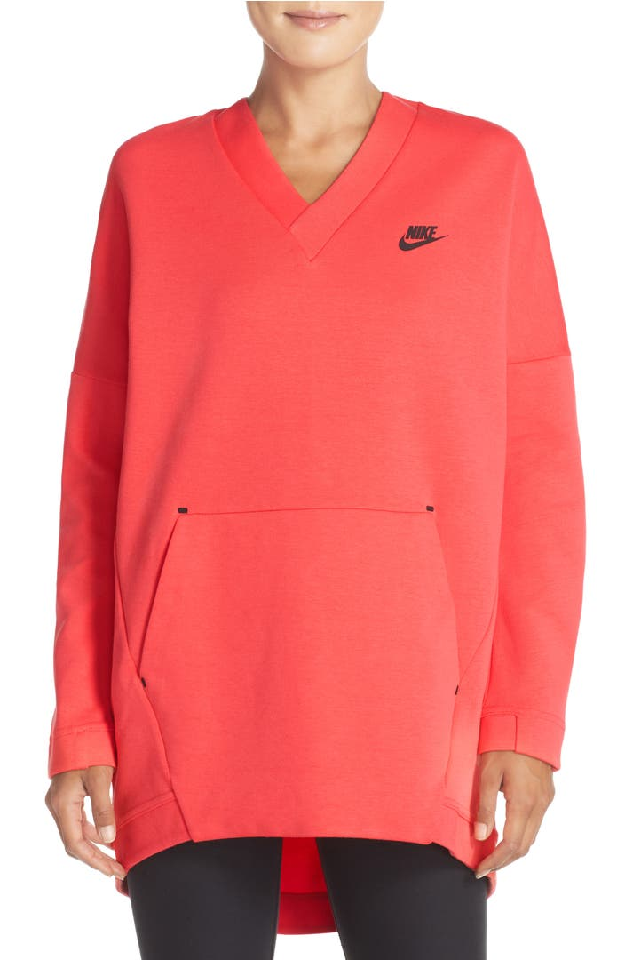 nike tech fleece knit pullover nordstrom. Black Bedroom Furniture Sets. Home Design Ideas