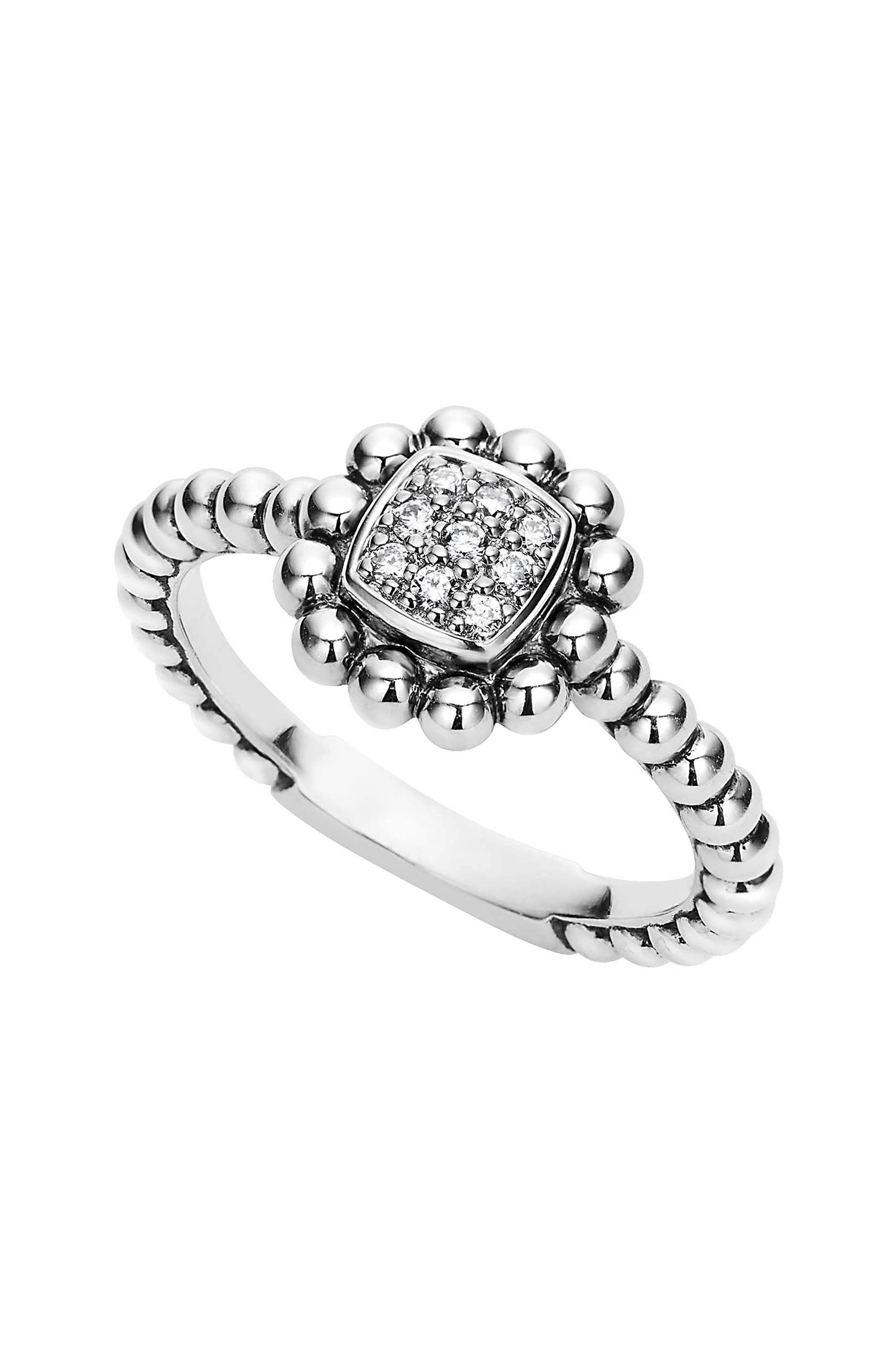 LAGOS Caviar Spark Diamond Square Ring