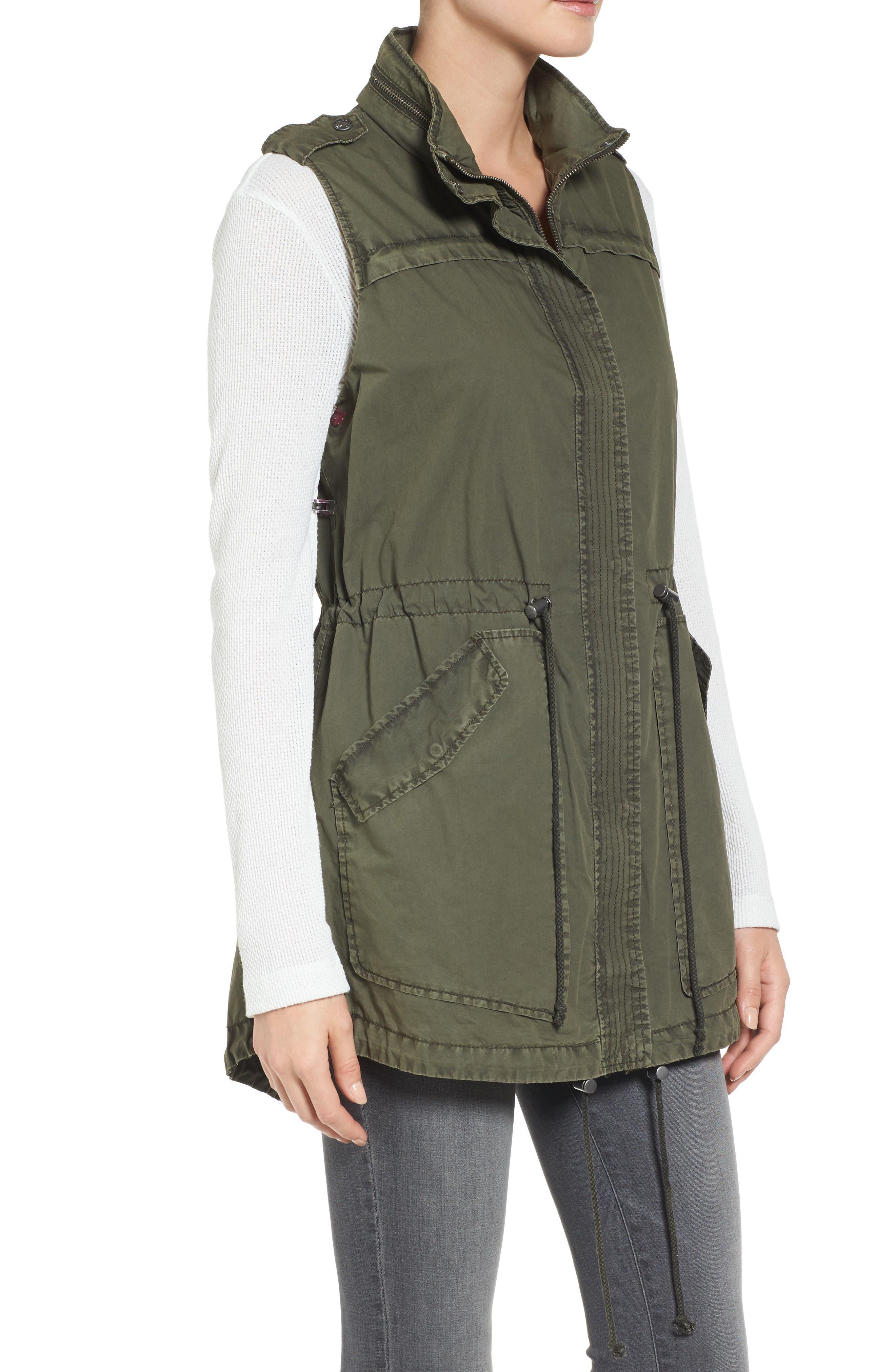 Levi's Parachute Cotton Vest,                             Alternate thumbnail 3, color,                             Army Green