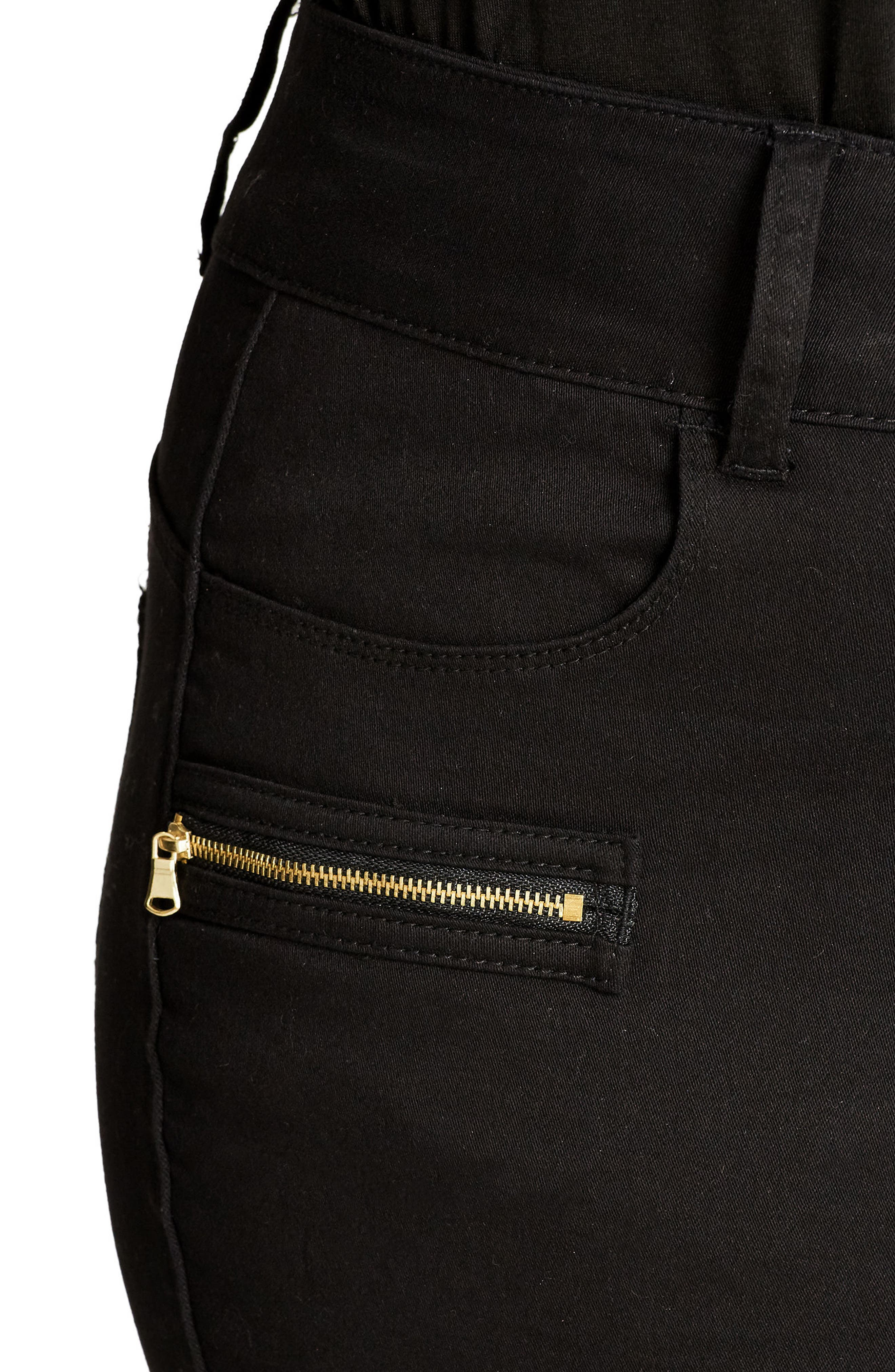 Alternate Image 3  - City Chic Jet Apple Stretch Skinny Jeans (Plus Size)