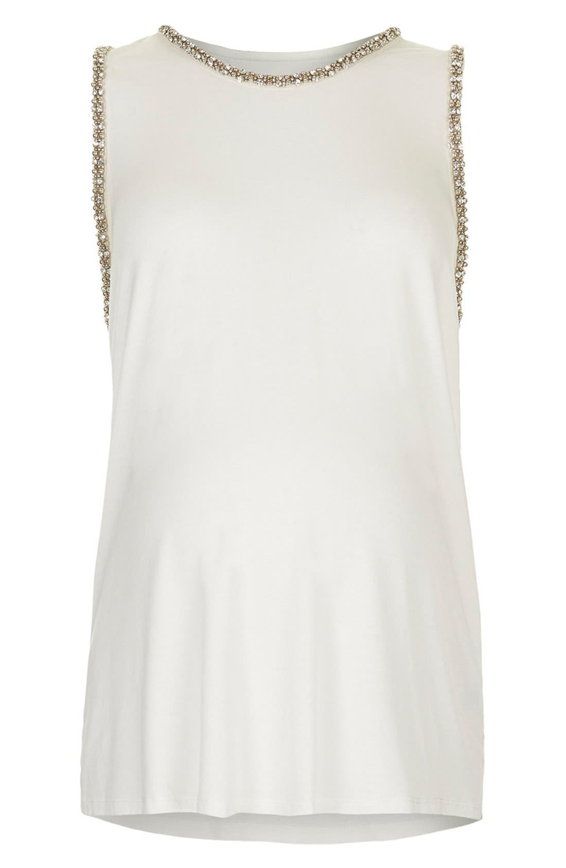 Alternate Image 4  - Topshop Gem Embellished Maternity Tank Top