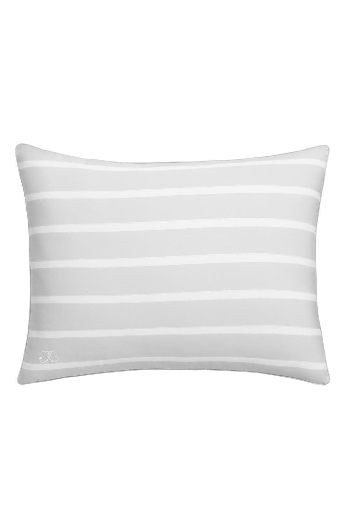 Capri Stripe Standard Sham,                         Main,                         color, Pearl Grey