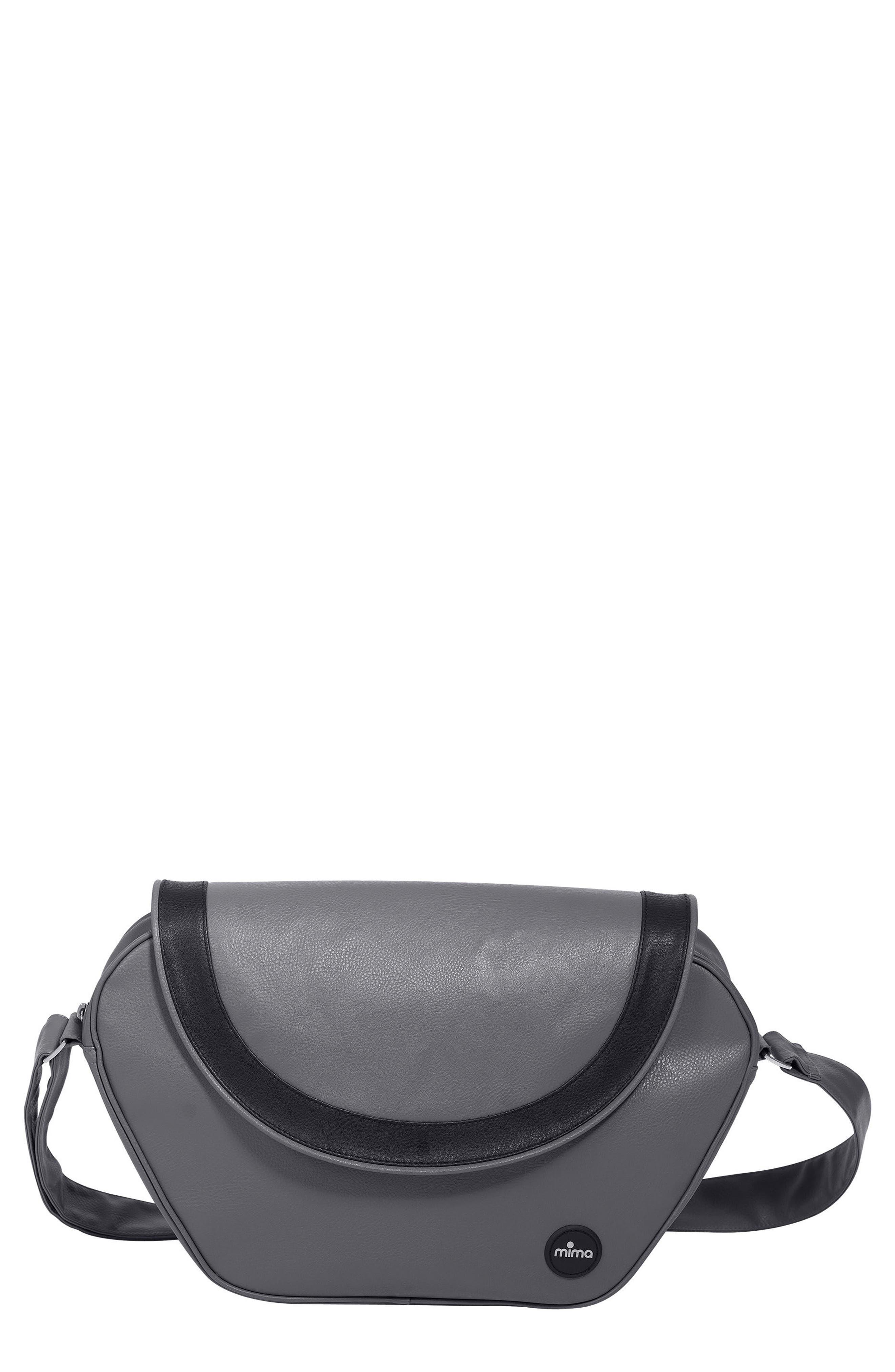 Trendy Faux Leather Diaper Bag,                             Main thumbnail 1, color,                             Cool Grey