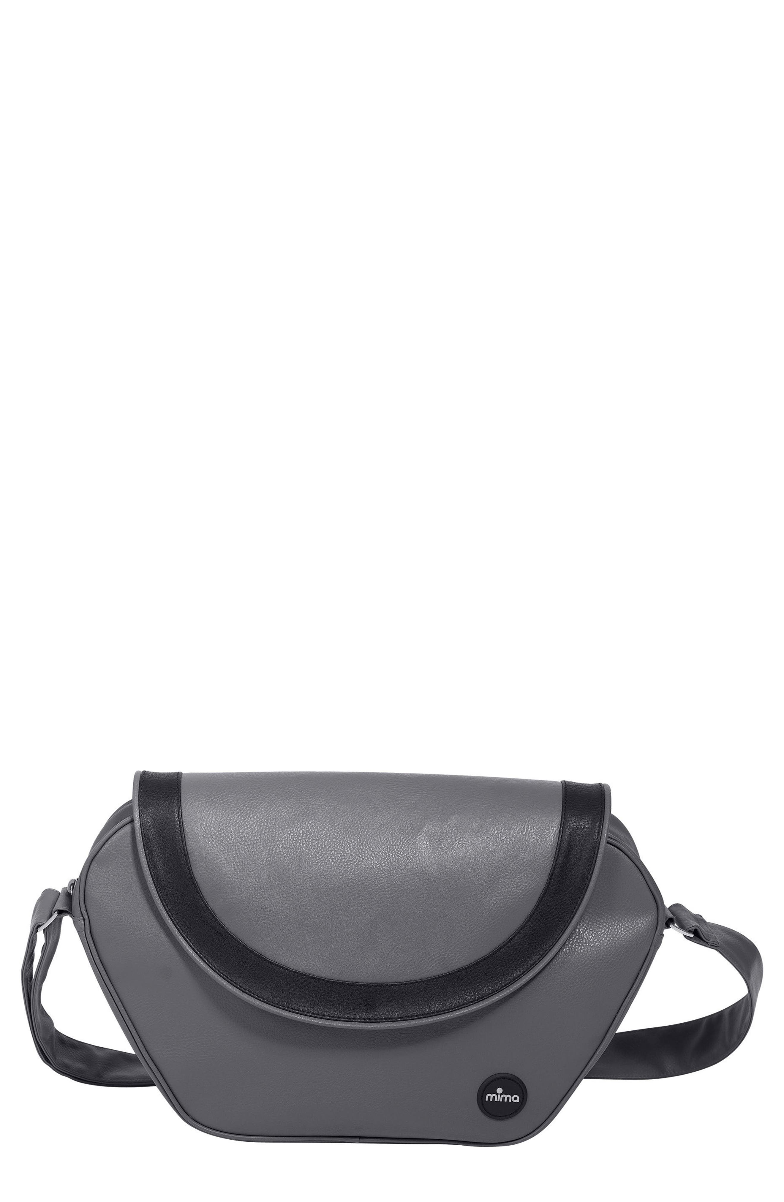 Trendy Faux Leather Diaper Bag,                         Main,                         color, Cool Grey