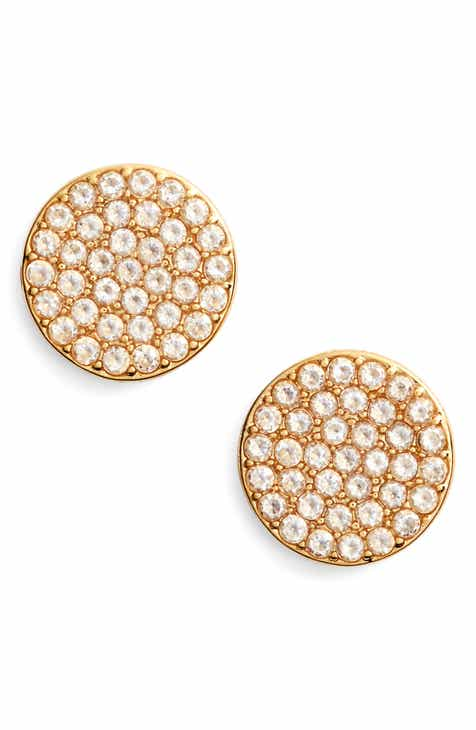 jewelry gold ob round diamond prongs white studded earring earrings stud