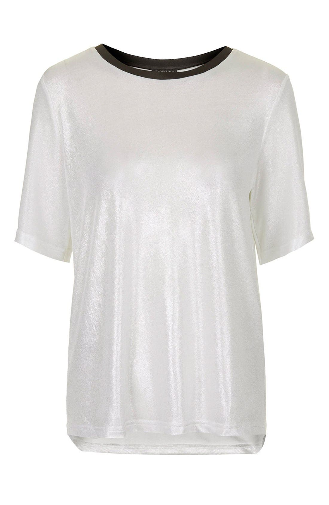 Alternate Image 5  - Topshop Oversize Metallic Tee