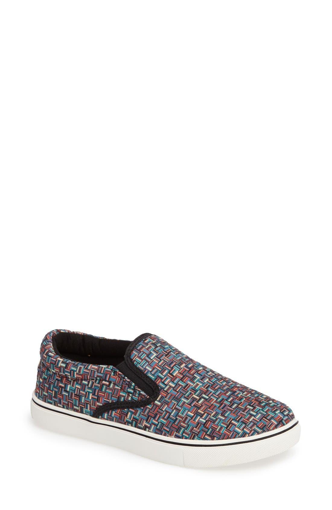 'Verona' Slip-On Sneaker,                             Main thumbnail 1, color,                             Lapis Multi Fabric