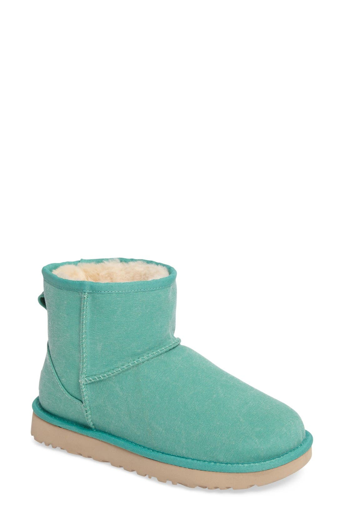 Classic Mini II Bootie,                             Main thumbnail 1, color,                             Verde Canvas