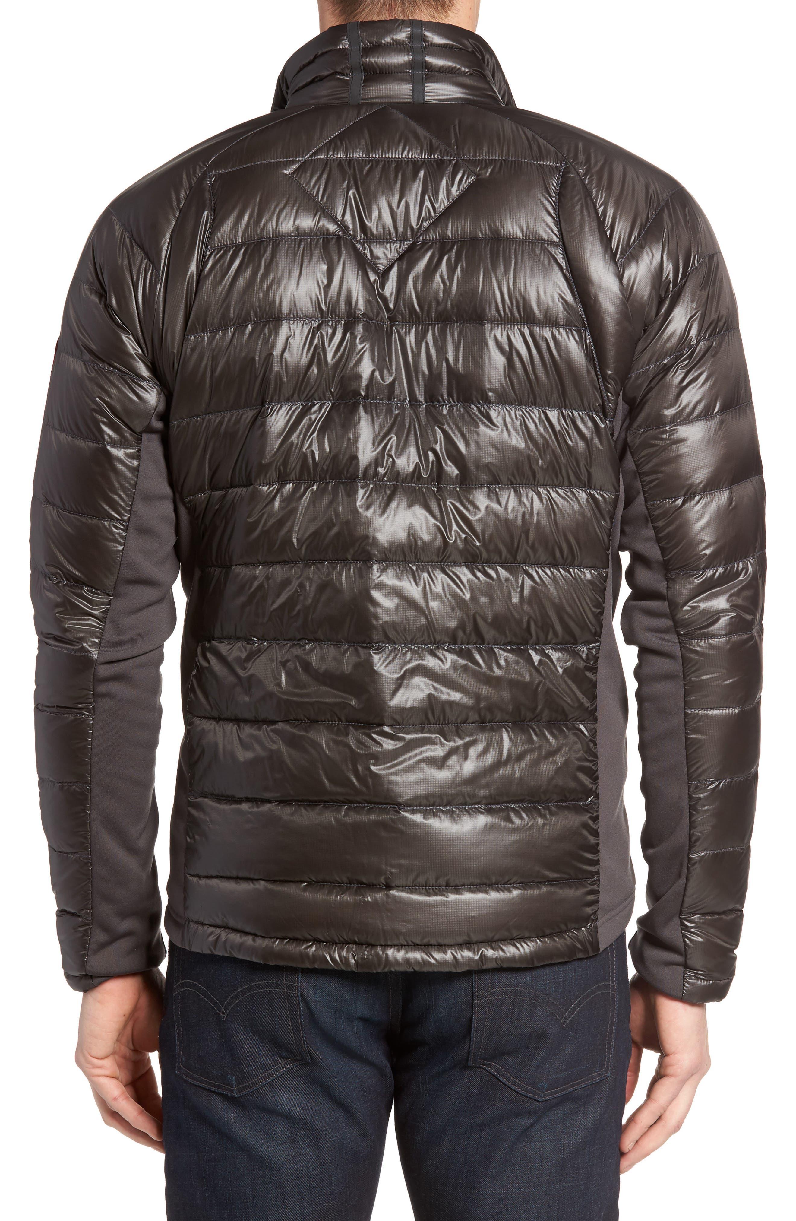 'Hybridge<sup>™</sup> Lite' Slim Fit Packable Jacket,                             Alternate thumbnail 2, color,                             Graphite/ Pacific Blue