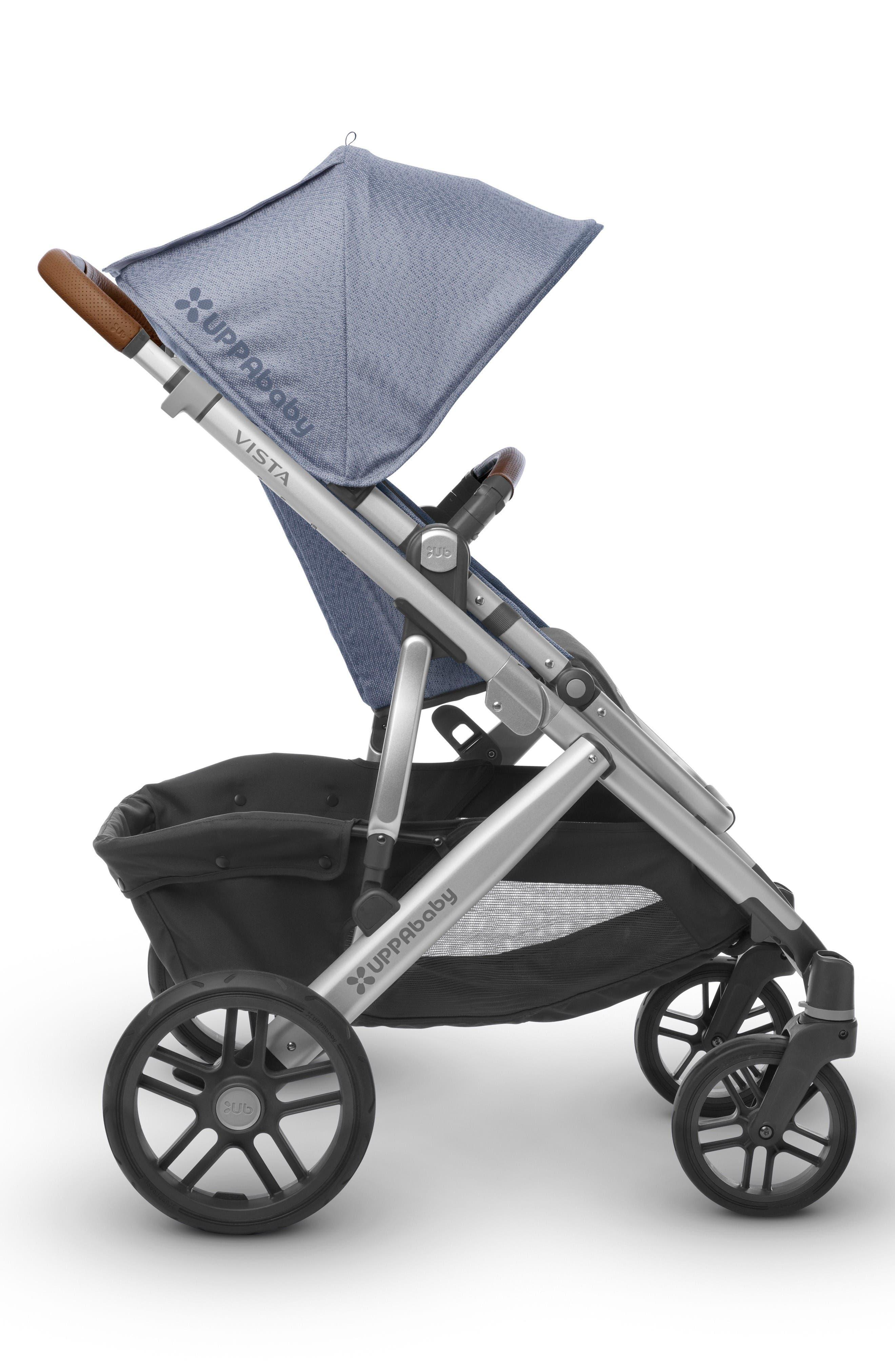 2017 VISTA Henry Aluminum Frame Convertible Stroller with Bassinet & Toddler Seat,                             Alternate thumbnail 2, color,                             Blue Marl