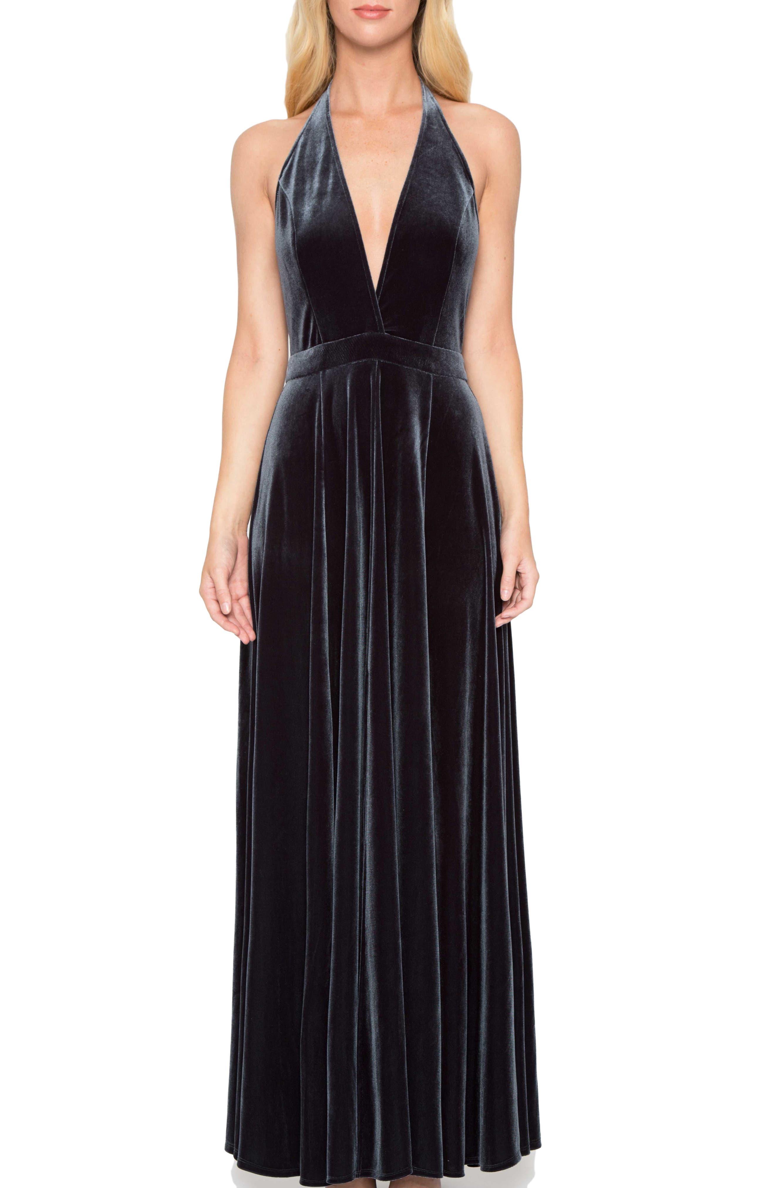 Main Image - Willow & Clay Velvet Maxi Dress