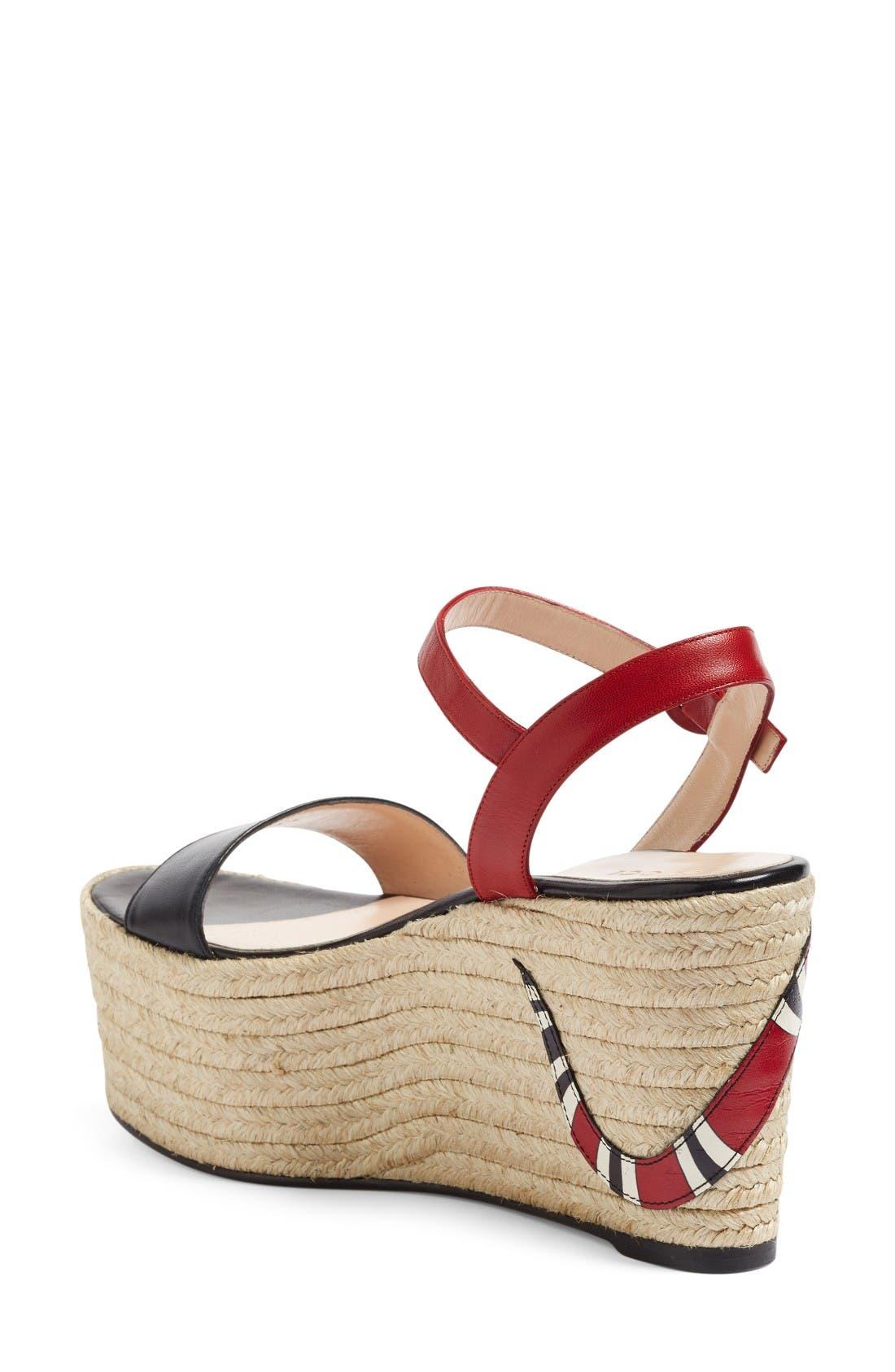 Alternate Image 2  - Gucci Barbette Espadrille Wedge Sandal (Women)