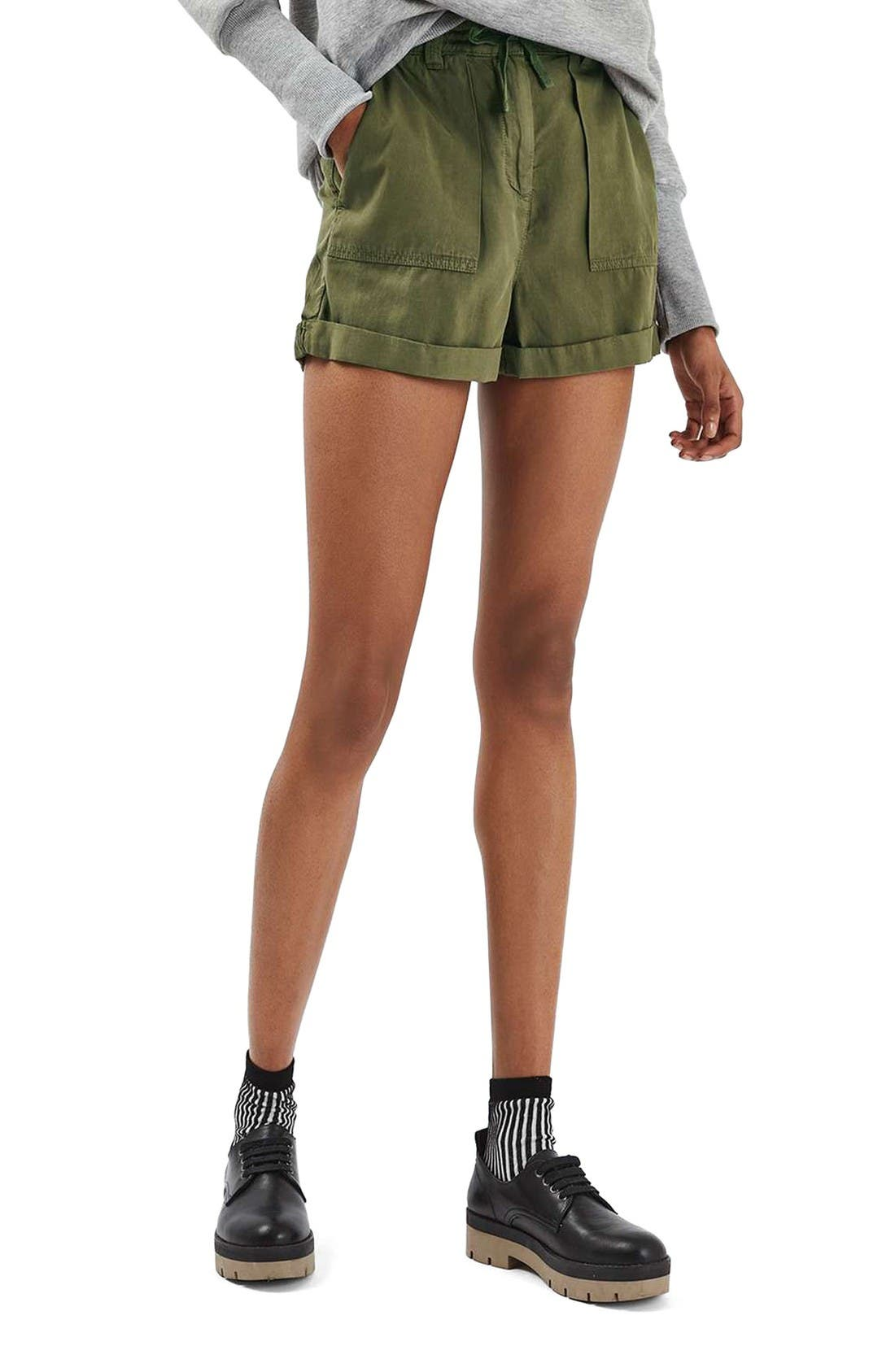 Alternate Image 1 Selected - Topshop Utility Shorts