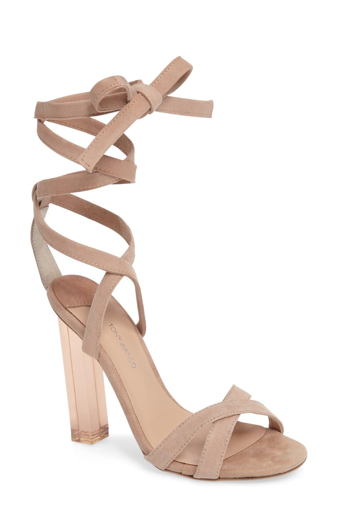Alternate Image 1 Selected - Tony Bianco Komma Translucent Heel Sandal (Women)