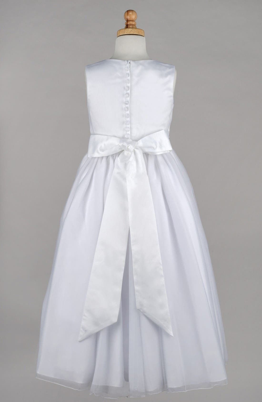 Beaded First Communion Dress,                             Alternate thumbnail 2, color,                             White