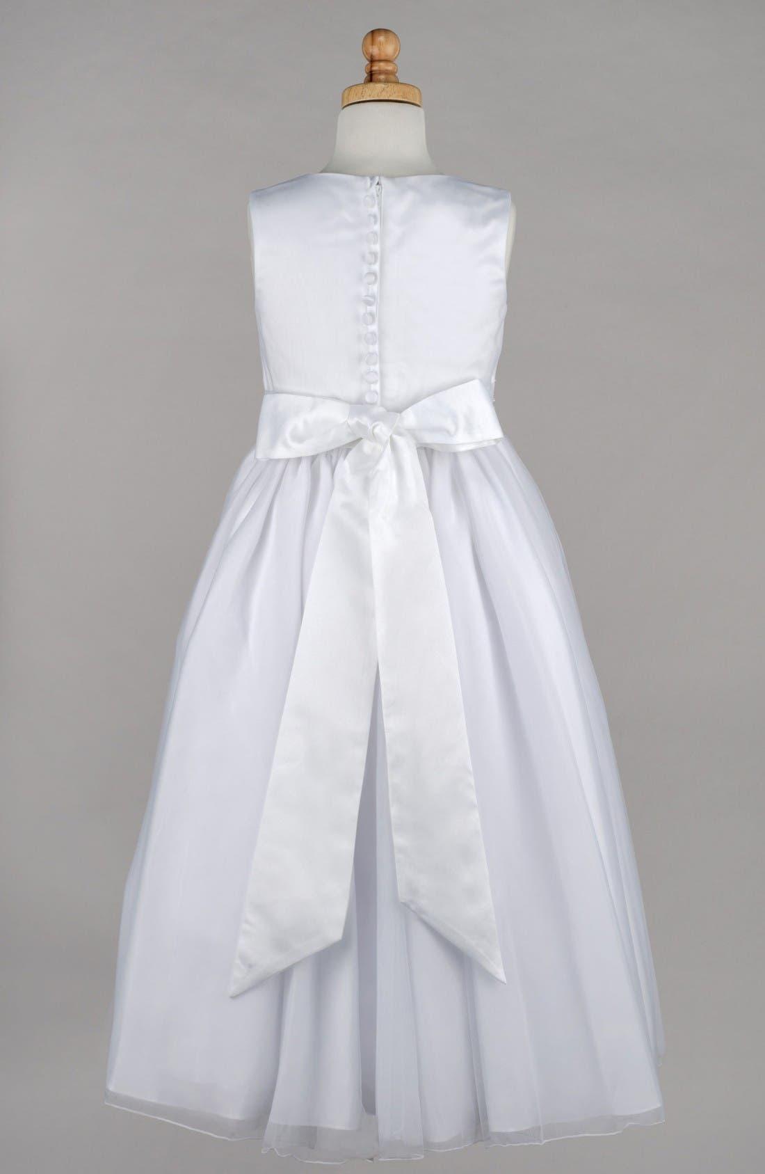 Alternate Image 2  - Lauren Marie Beaded First Communion Dress (Little Girls & Big Girls)