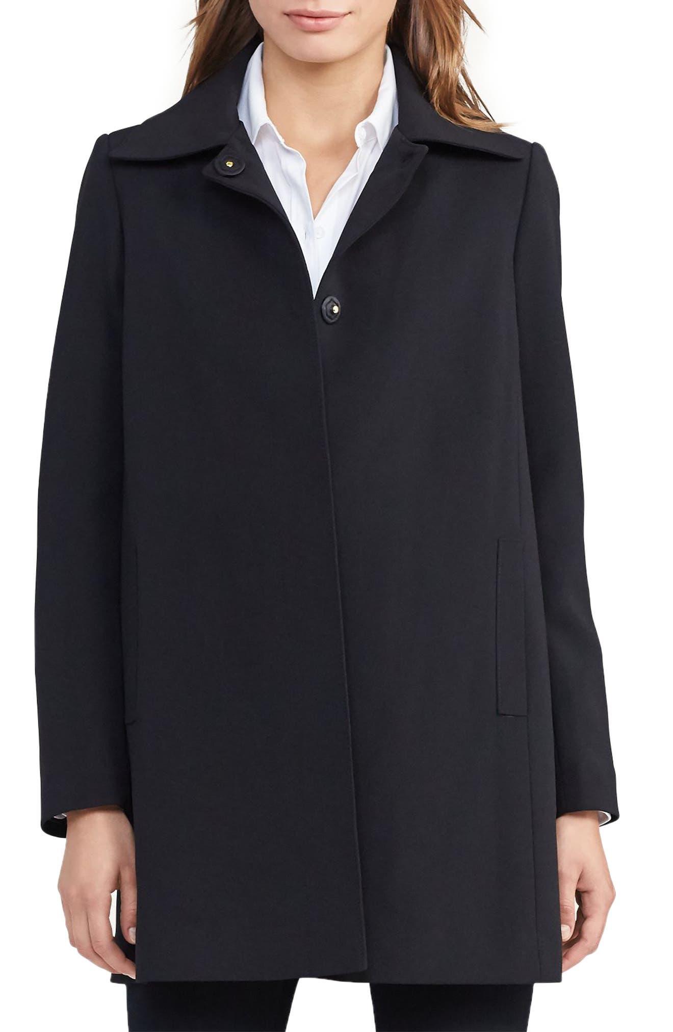 Crepe Jacket,                         Main,                         color, Black