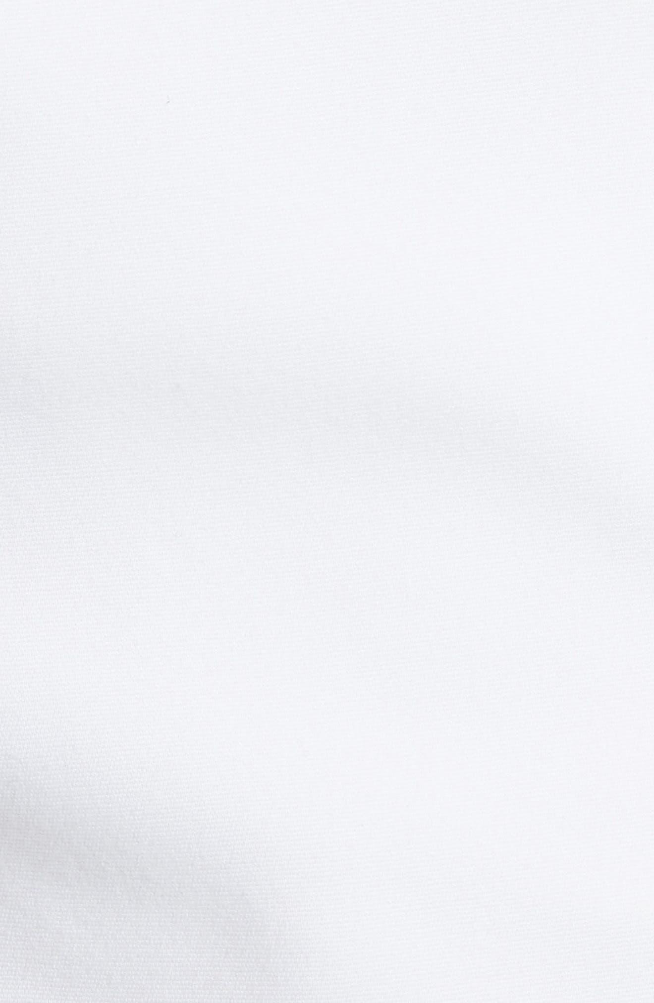Cady Cotton Blend Shorts,                             Alternate thumbnail 5, color,                             White