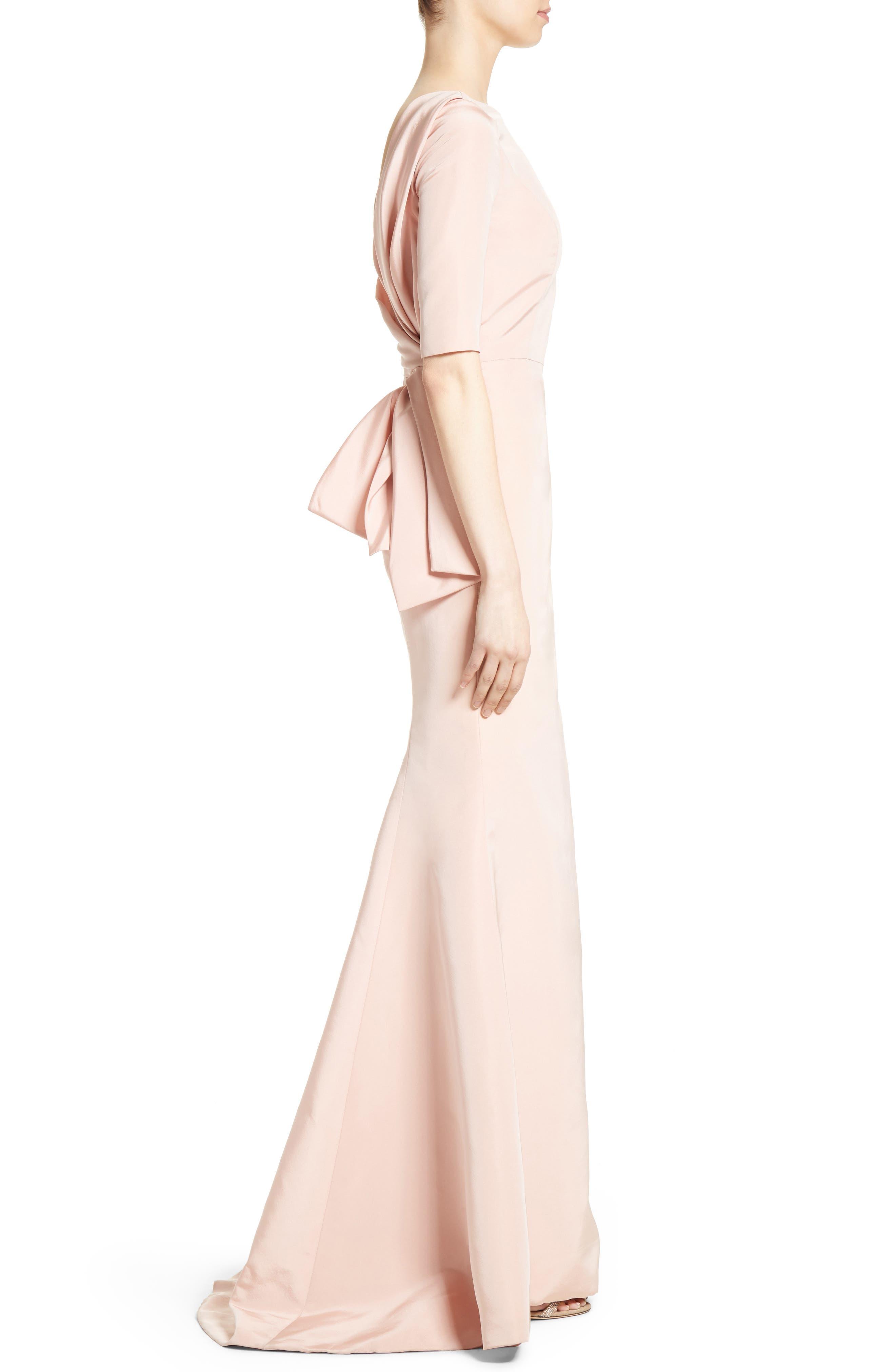 Alternate Image 4  - Carolina Herrera Draped V-Back Gown