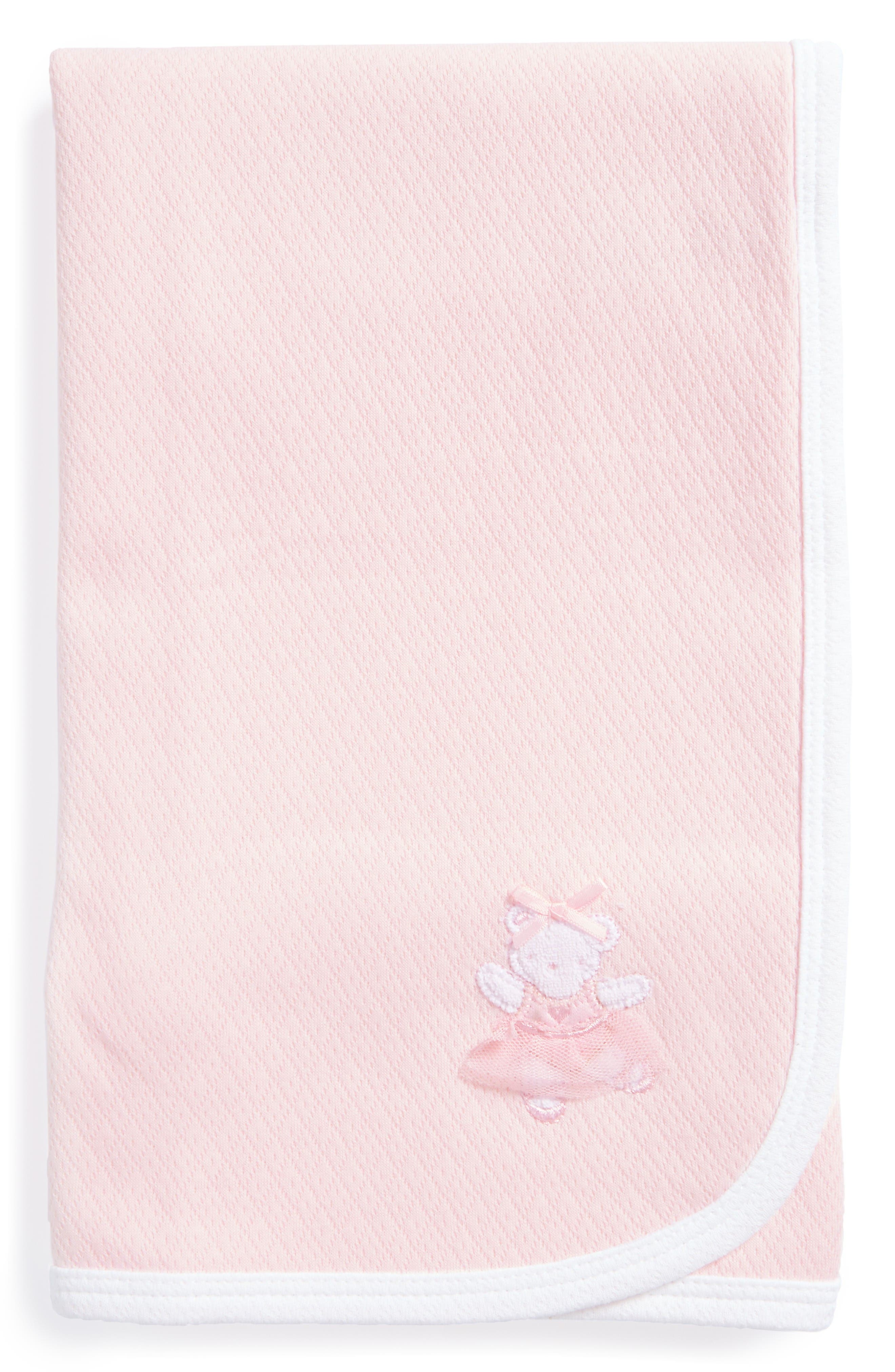 Main Image - Little Me Ballerina Bear Receiving Blanket (Nordstrom Exclusive)