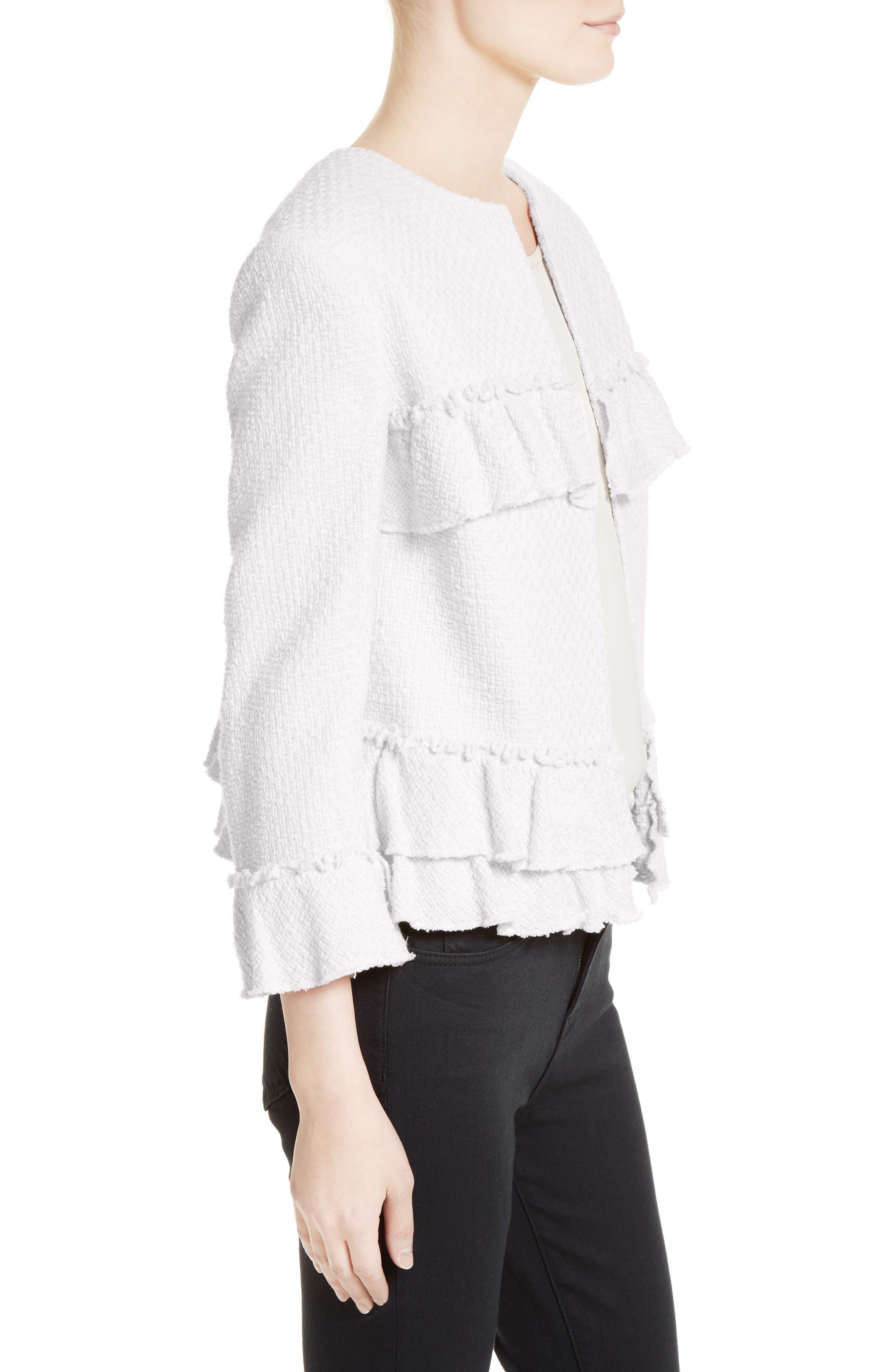 Alternate Image 3  - Helene Berman Frill Tweed Jacket
