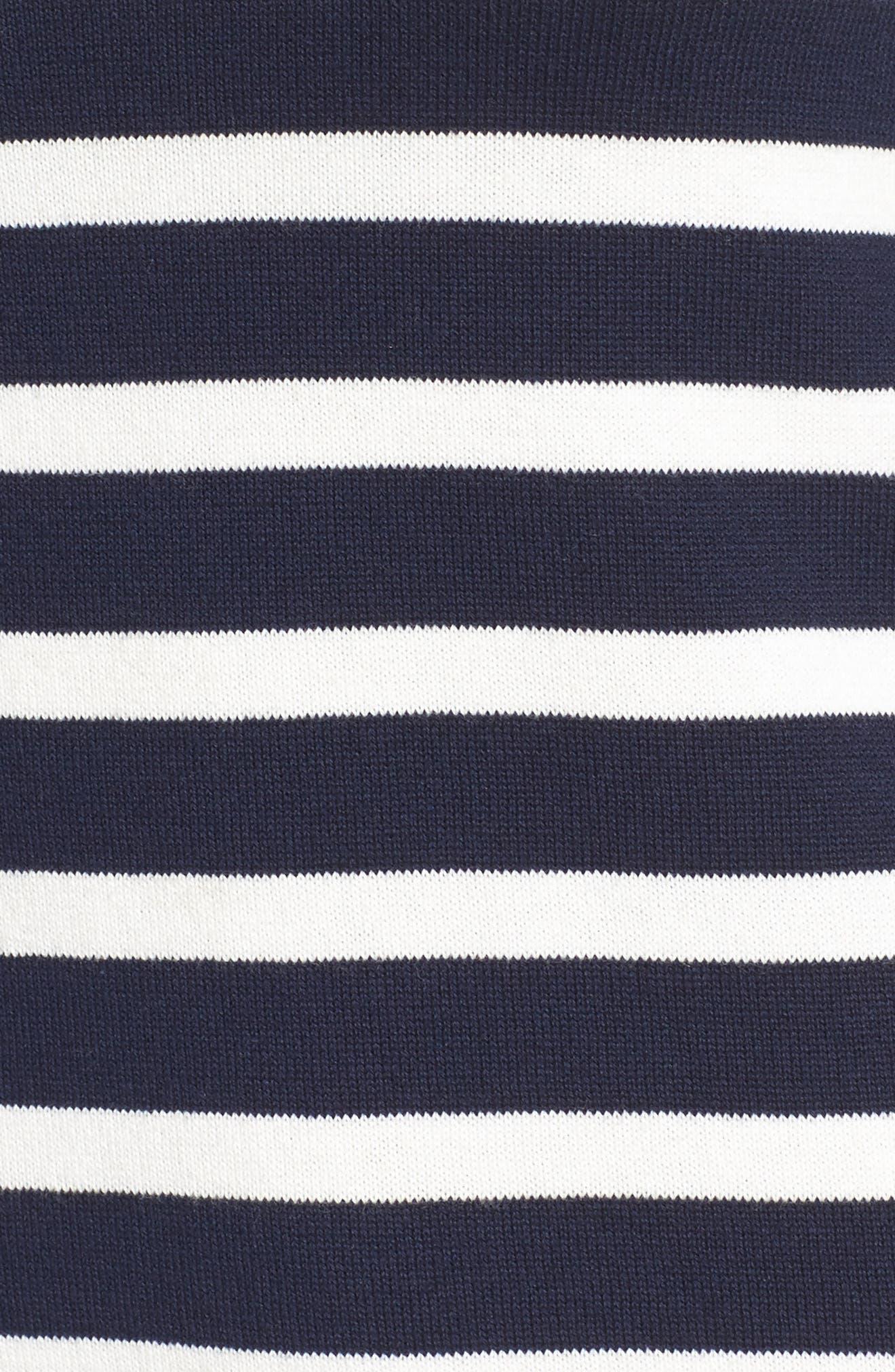Trina Turk Tango Stripe Cotton Knit Dress,                             Alternate thumbnail 6, color,                             Whitewash/ Indigo