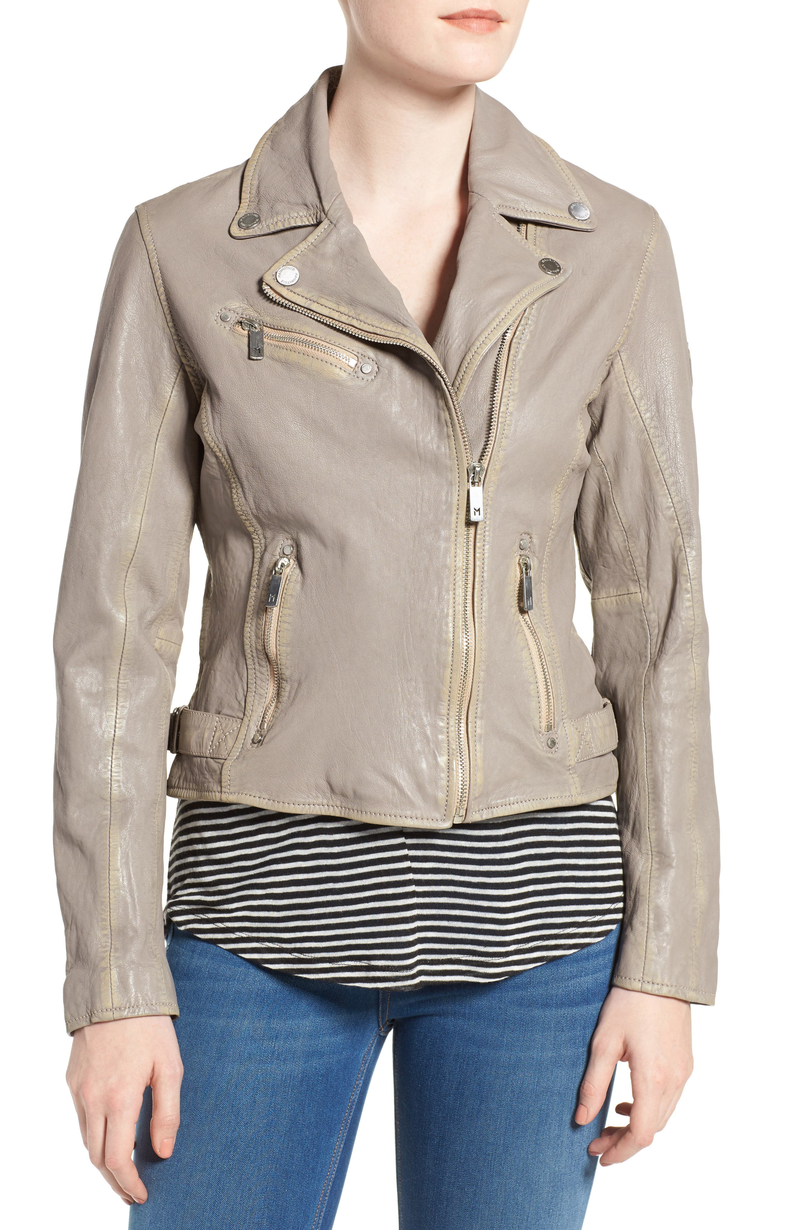 Alternate Image 4  - Mauritius Leather Moto Jacket