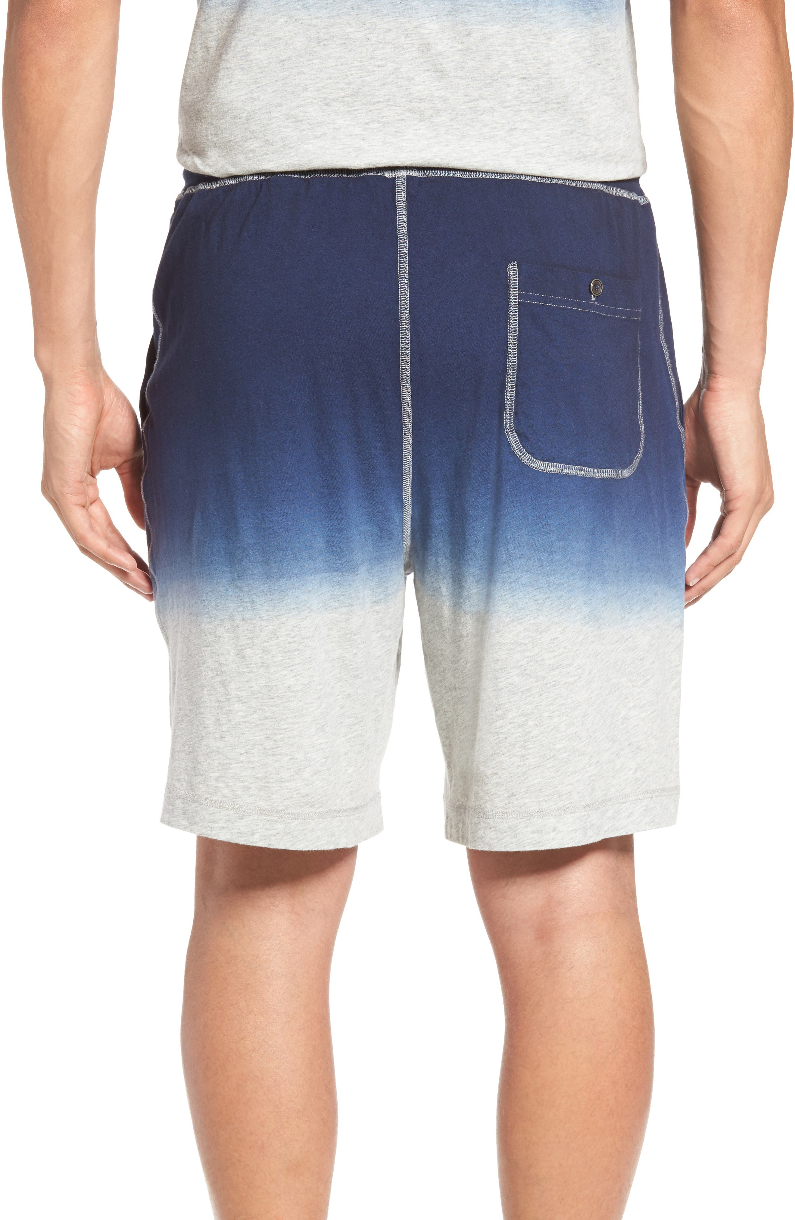 Dip Dye Lounge Shorts,                             Alternate thumbnail 2, color,                             Navy