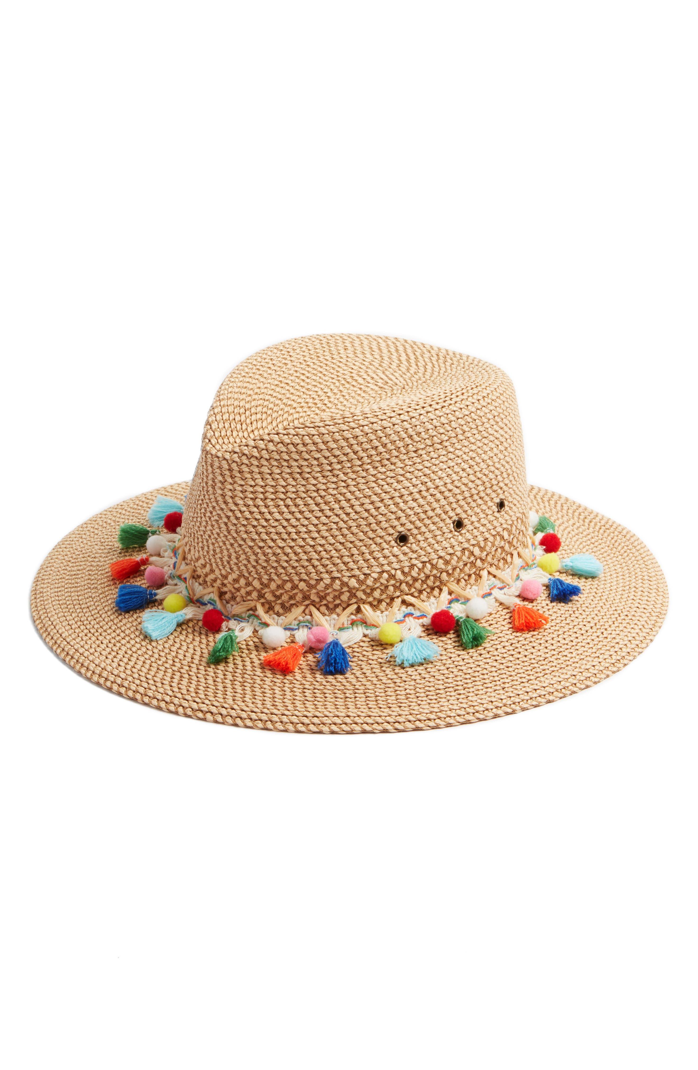 Bahia Sun Hat,                             Main thumbnail 1, color,                             Peanut Mix