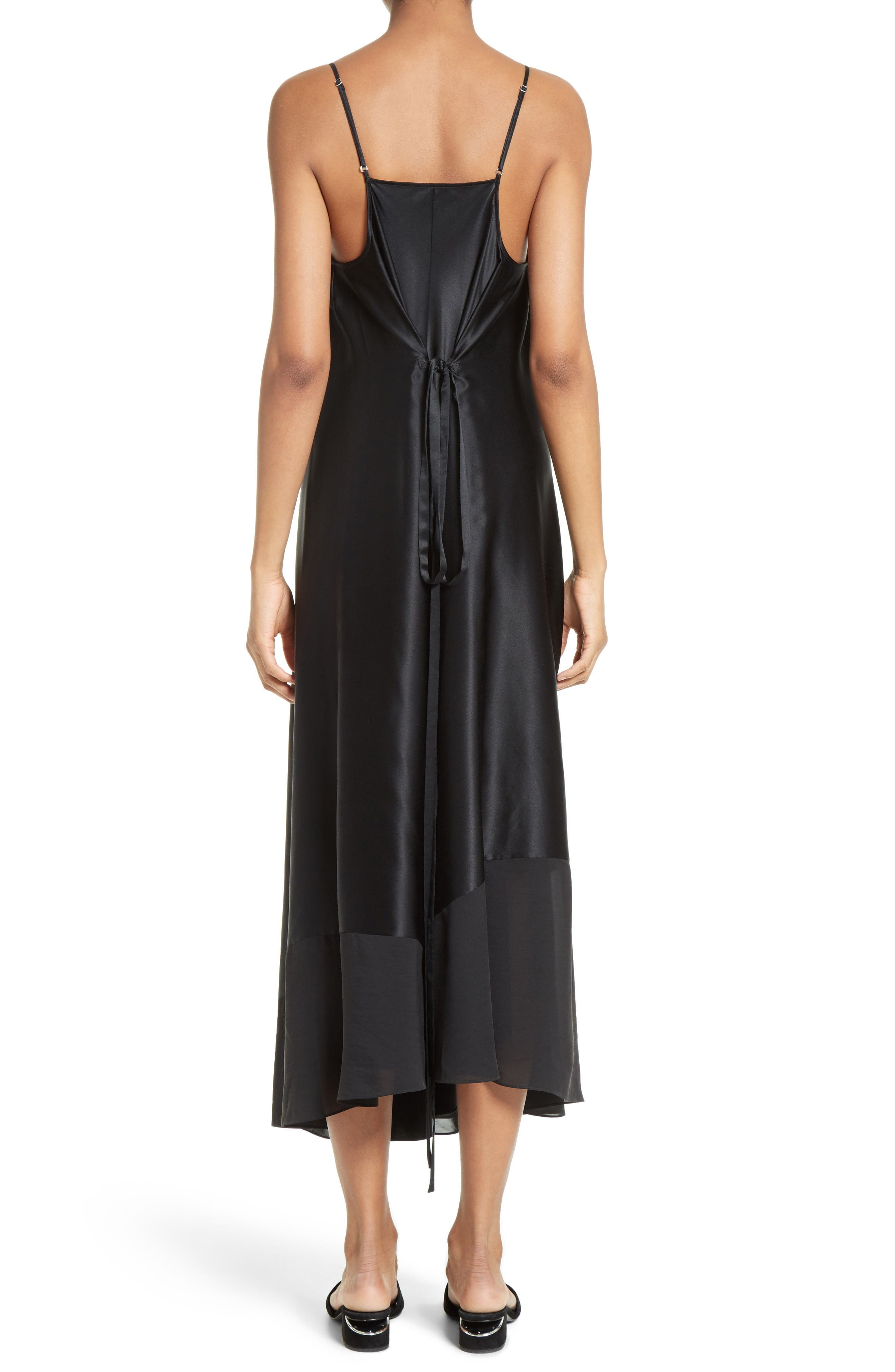 Alternate Image 2  - T by Alexander Wang Silk Charmeuse Midi Dress