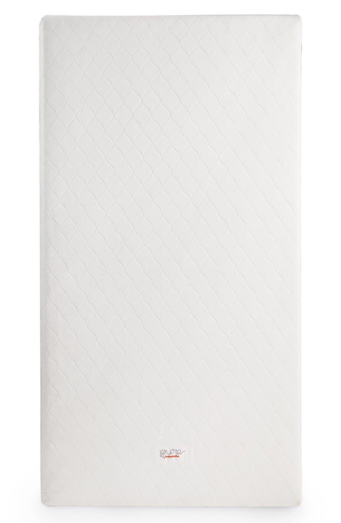 Pure Core Crib Mattress & Cover,                             Main thumbnail 1, color,                             White