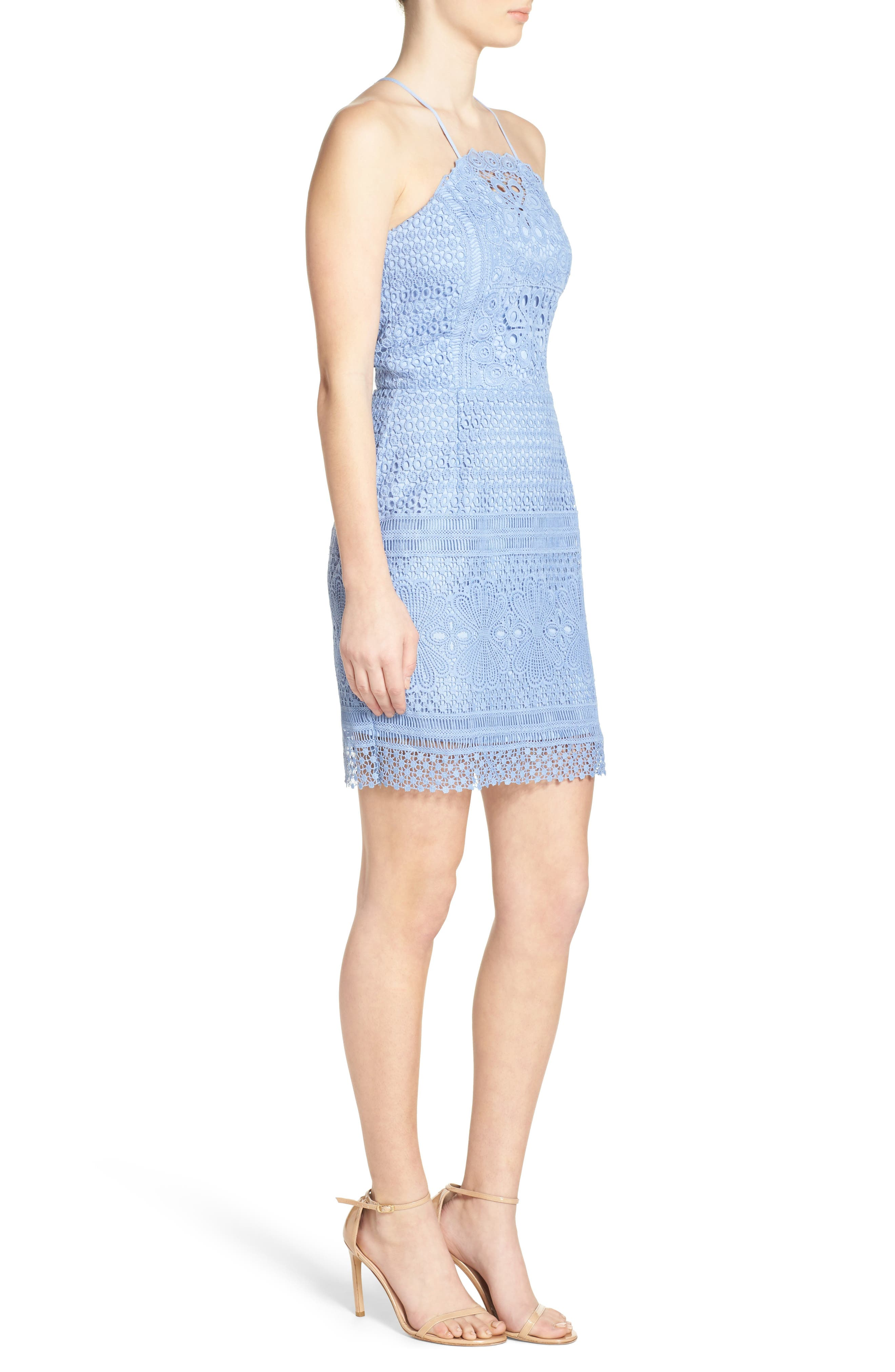 Alternate Image 4  - Greylin Lace Sheath Dress