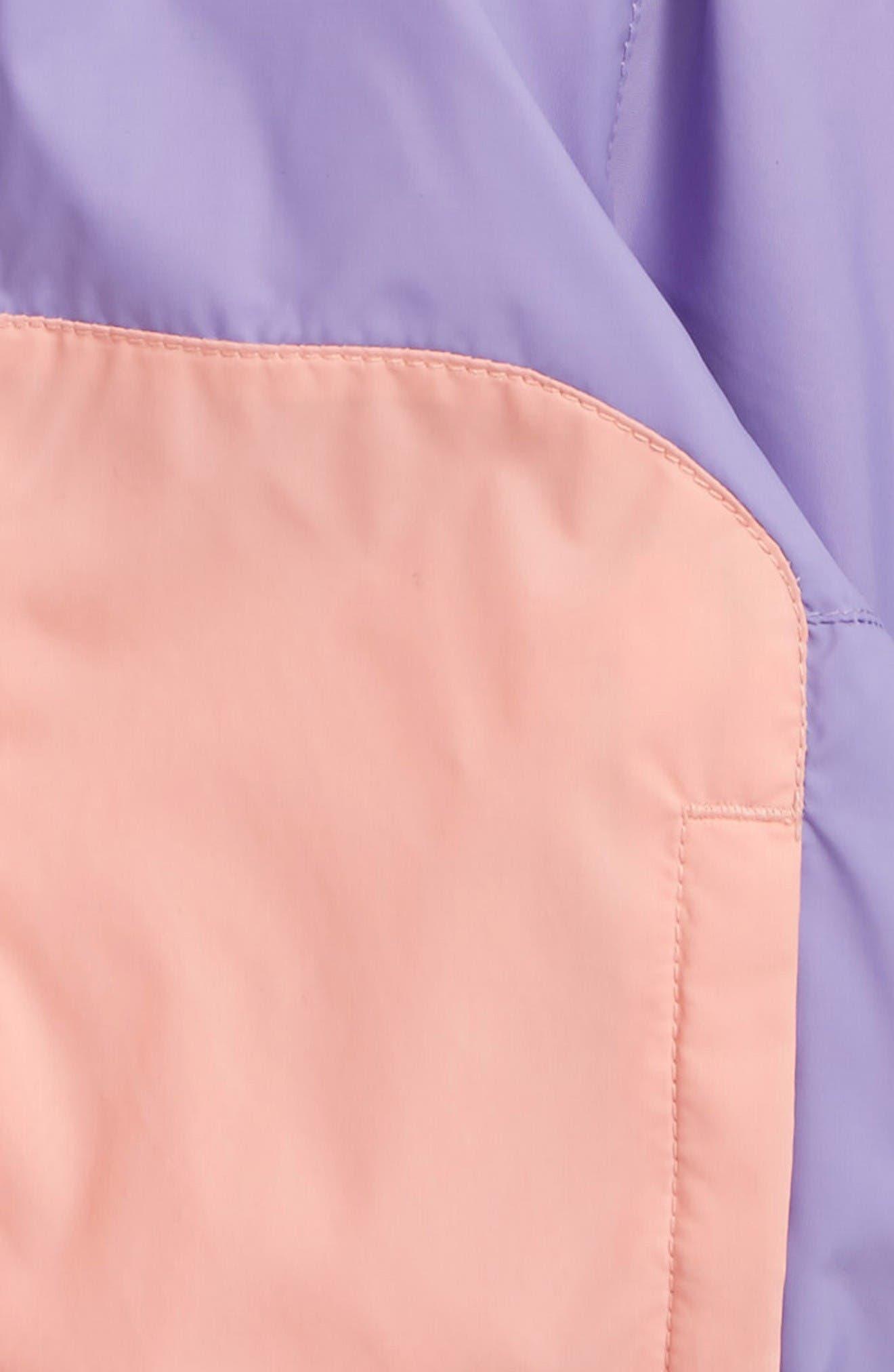 Kitteribbit Water Resistant Windbreaker,                             Alternate thumbnail 2, color,                             Paisley Purple Dart
