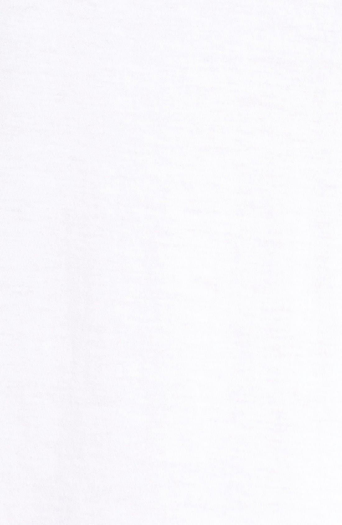 Jersey Chemise,                             Alternate thumbnail 5, color,                             White