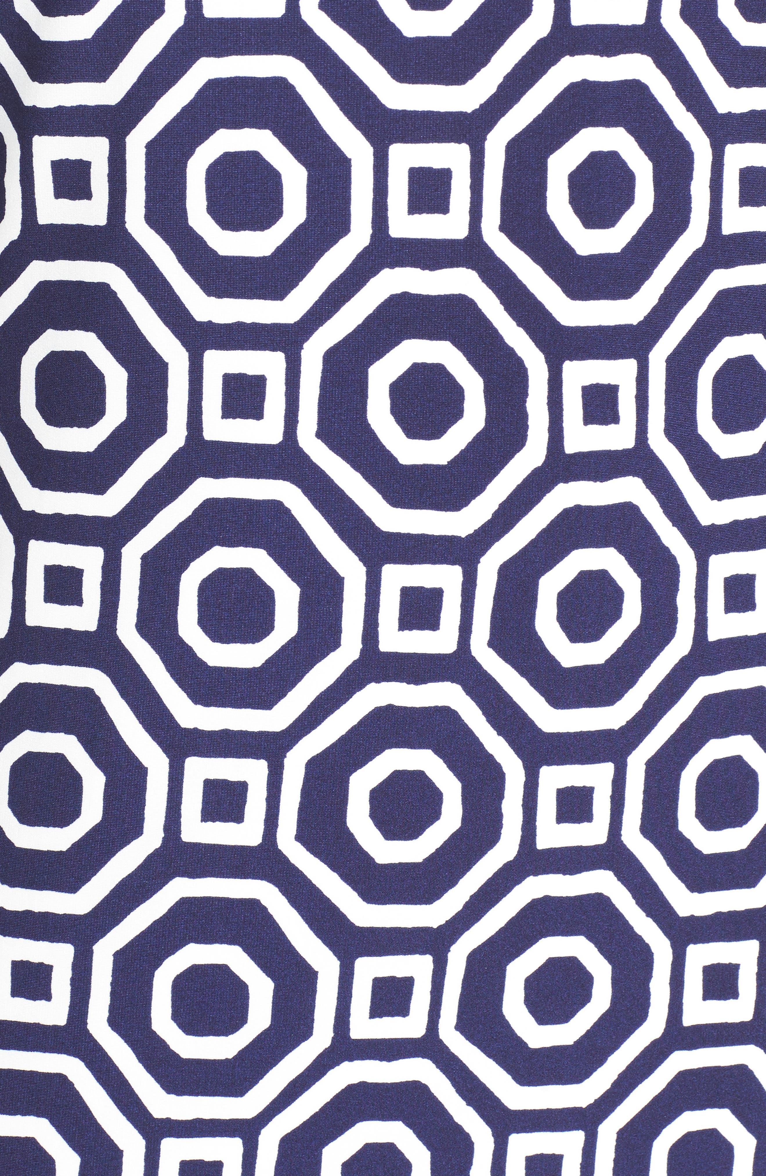 Alternate Image 5  - Eliza J Border Print Shift Dress (Plus Size)