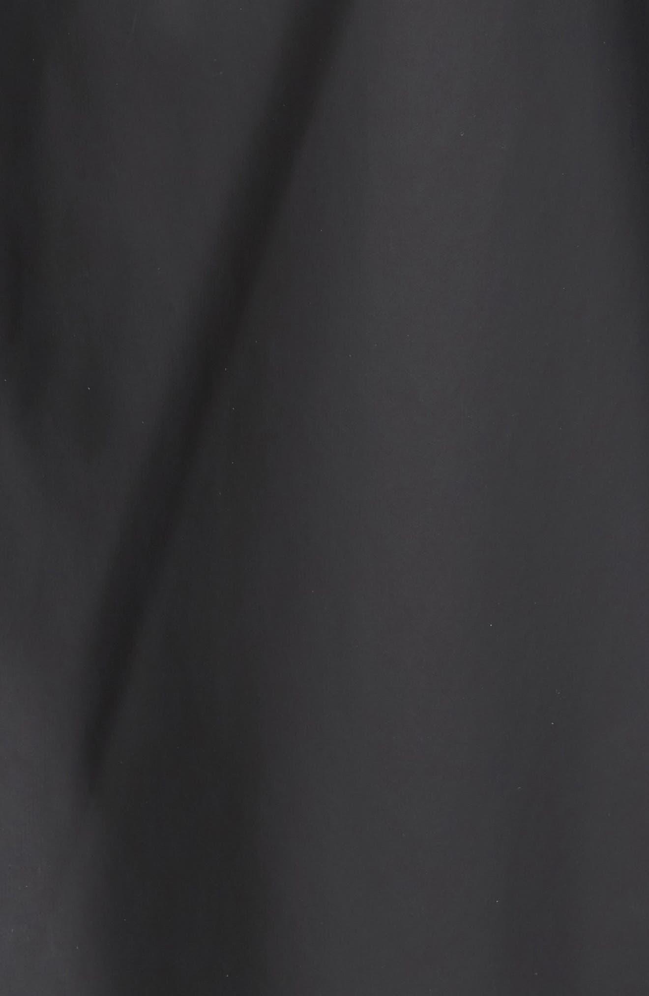 Rubberized Hooded Jacket,                             Alternate thumbnail 5, color,                             Black