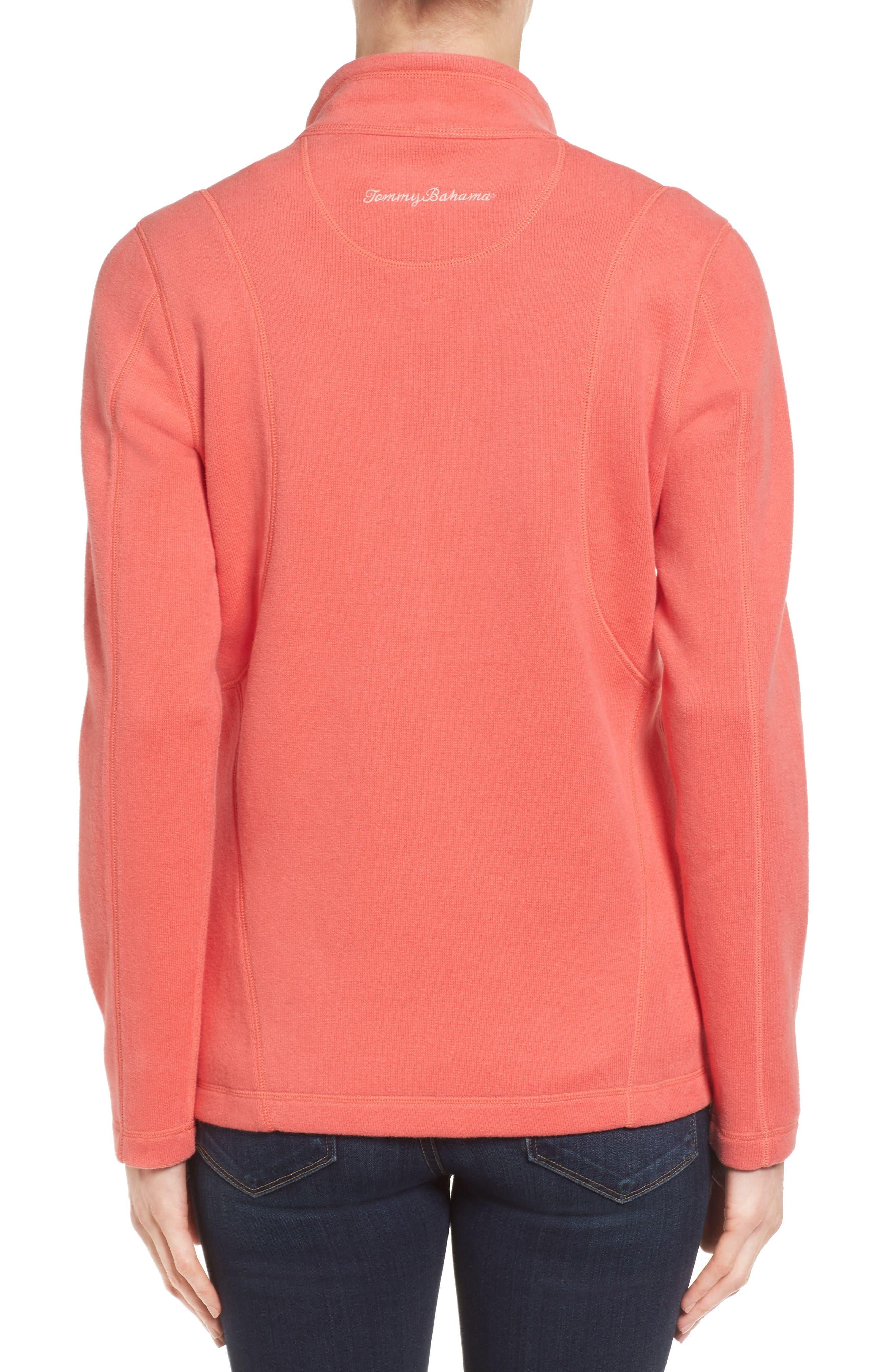 'Aruba' Full Zip Sweatshirt,                             Alternate thumbnail 2, color,                             Fusion