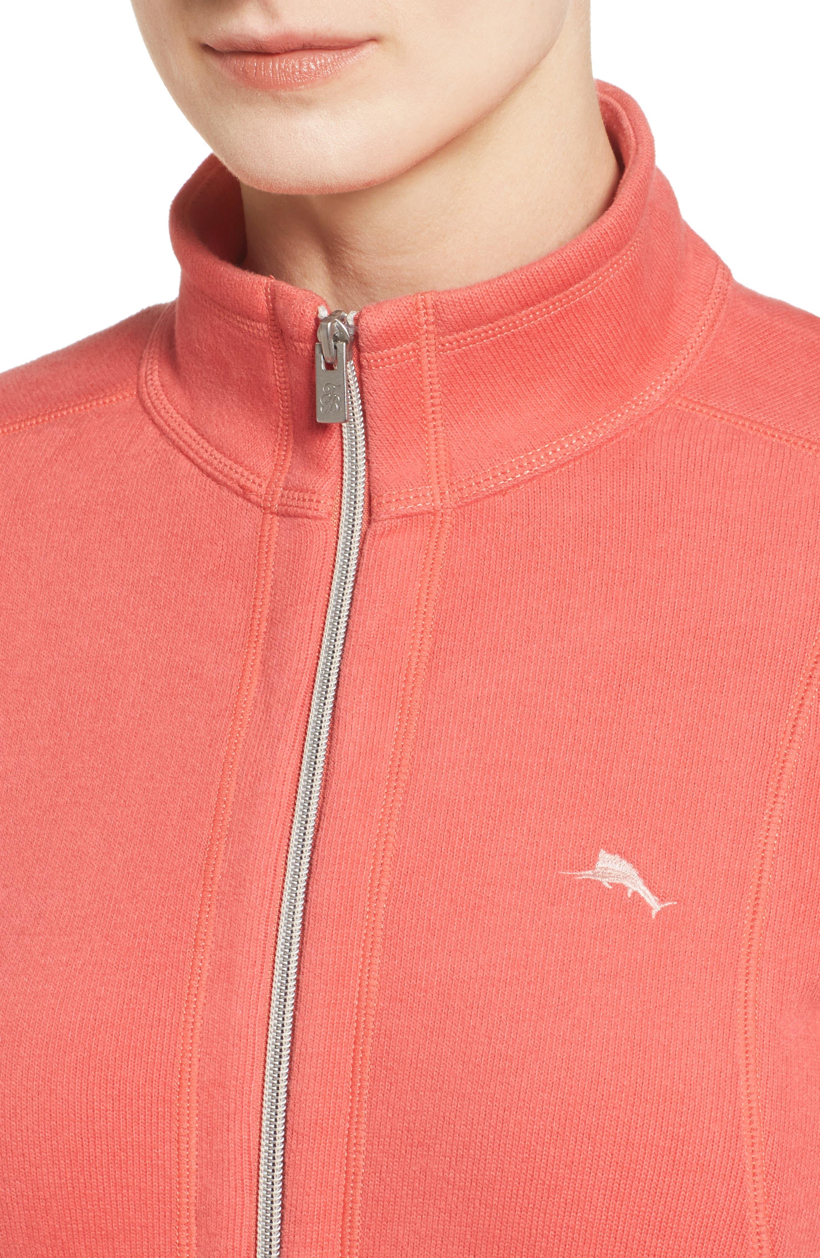 'Aruba' Full Zip Sweatshirt,                             Alternate thumbnail 4, color,                             Fusion