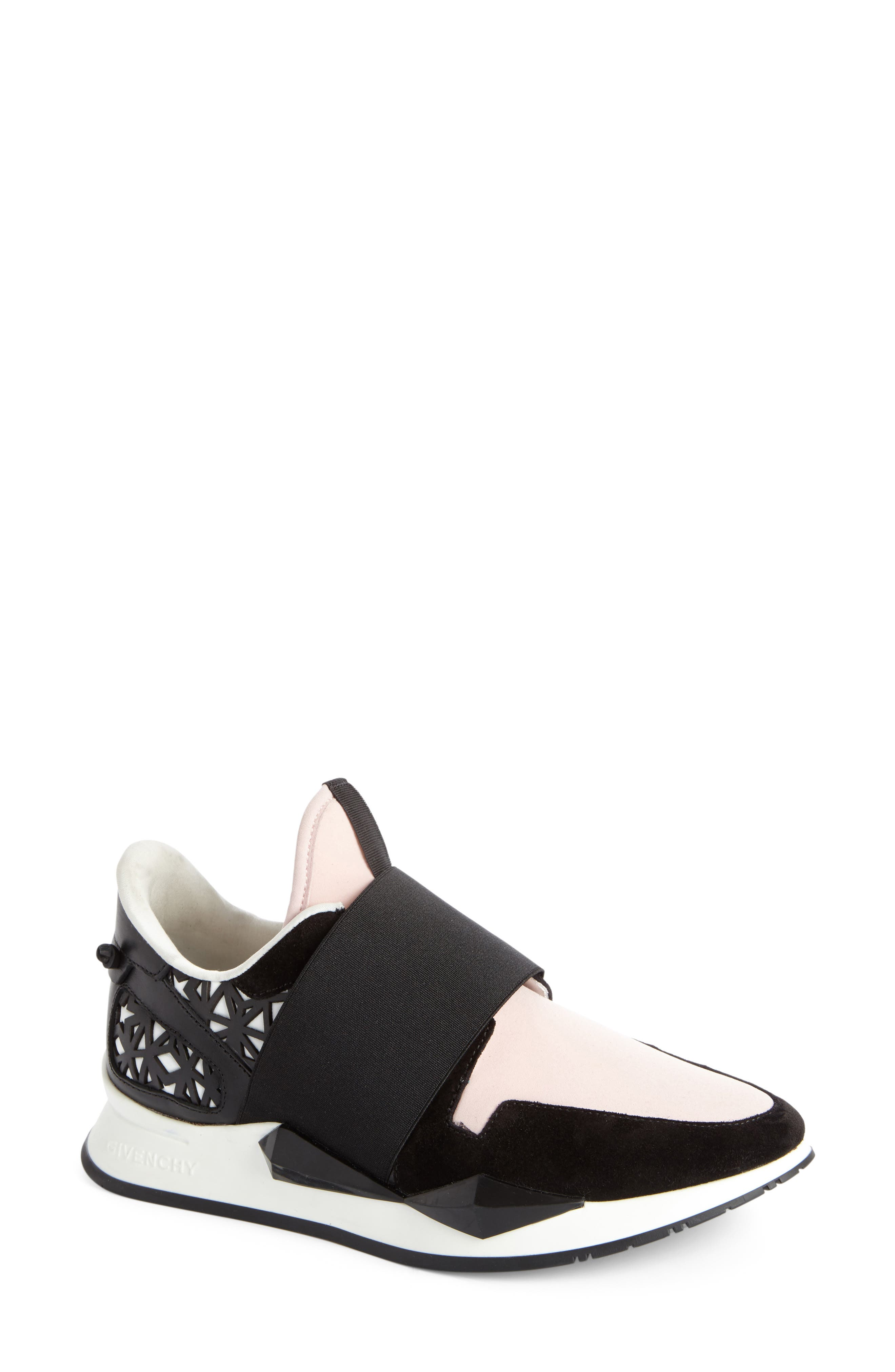 Slip-On Sneaker,                             Main thumbnail 1, color,                             Black/ Pink