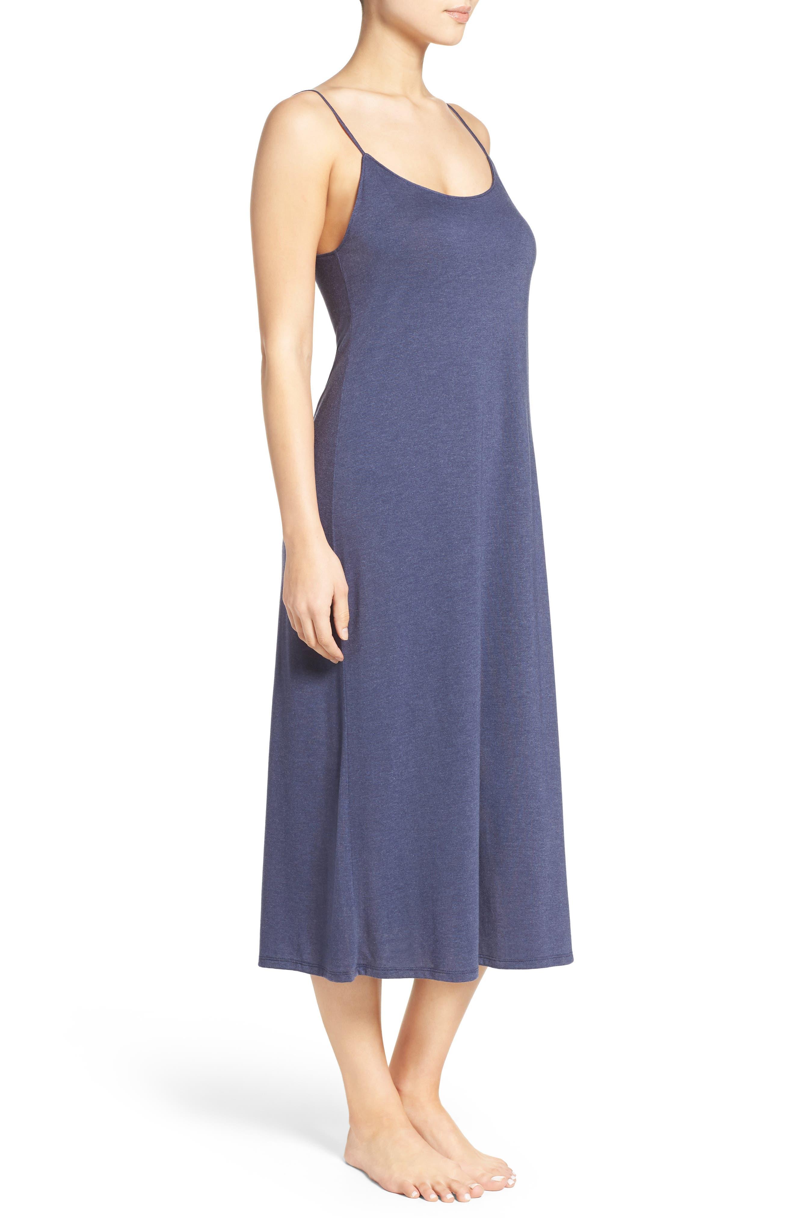Shangri La Nightgown,                             Alternate thumbnail 3, color,                             Heather Night Blue