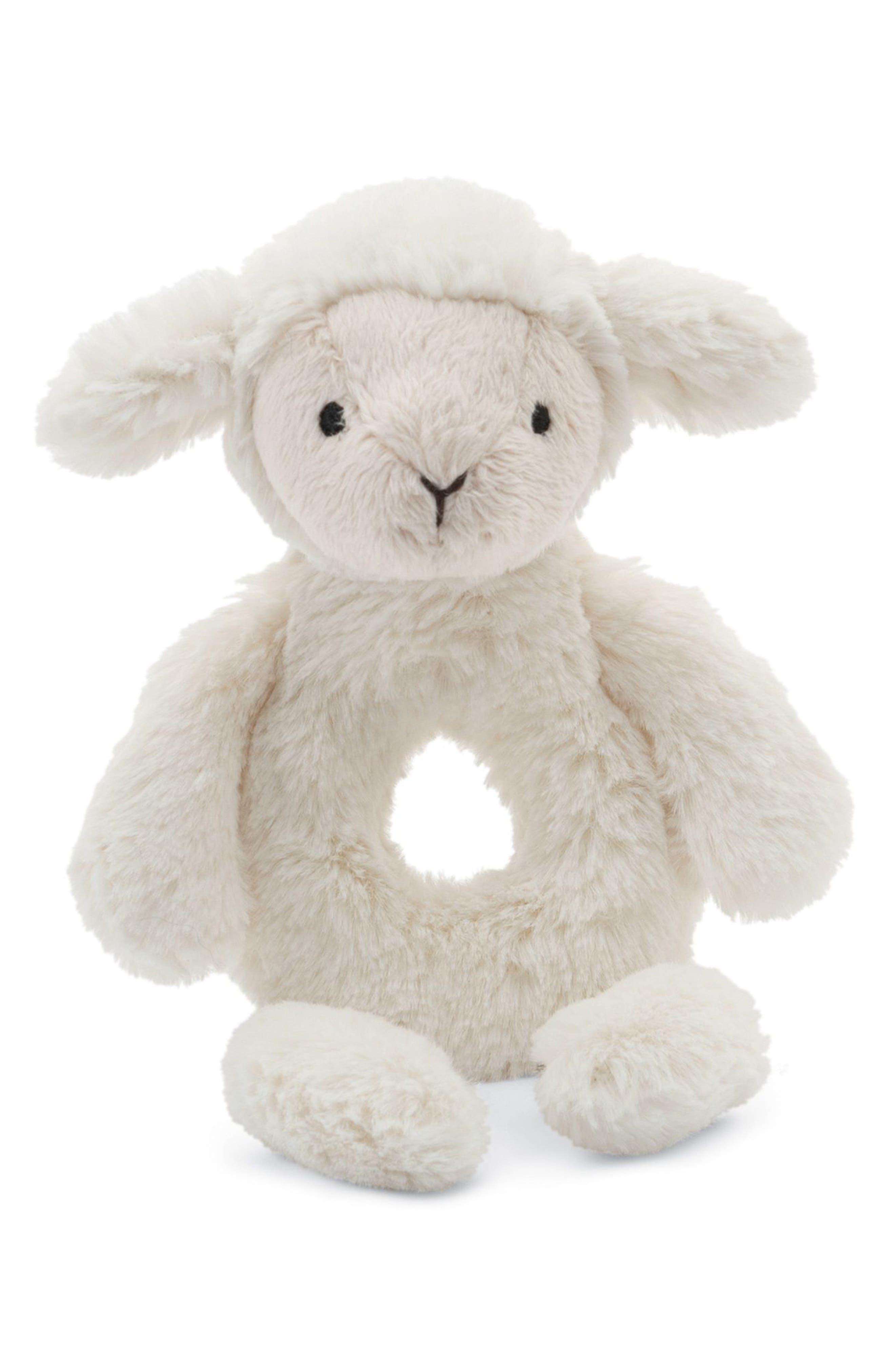 Jellycat Bashful Lamb Grabber Rattle