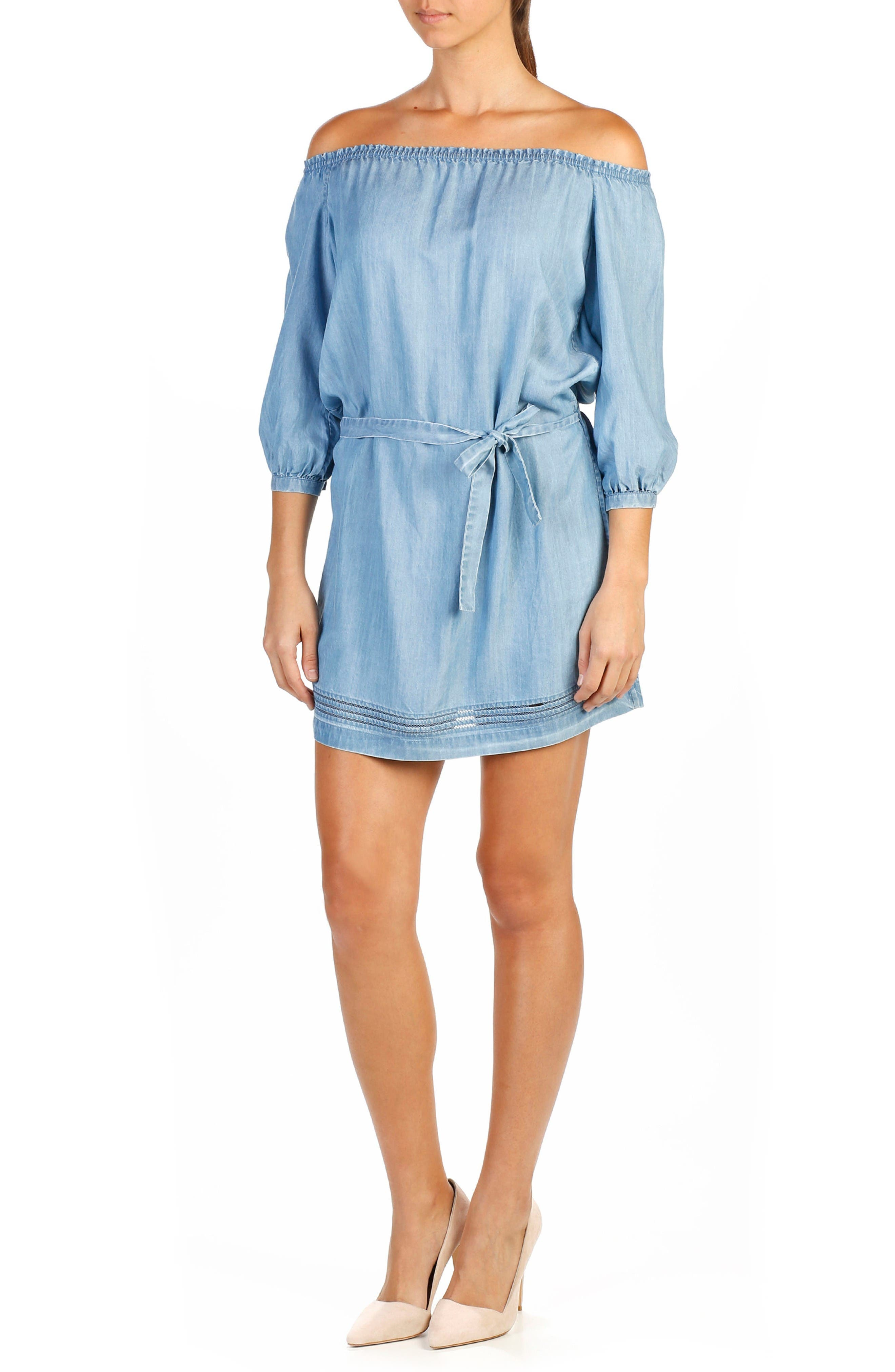 Beatrice Off the Shoulder Dress,                         Main,                         color, Persephone