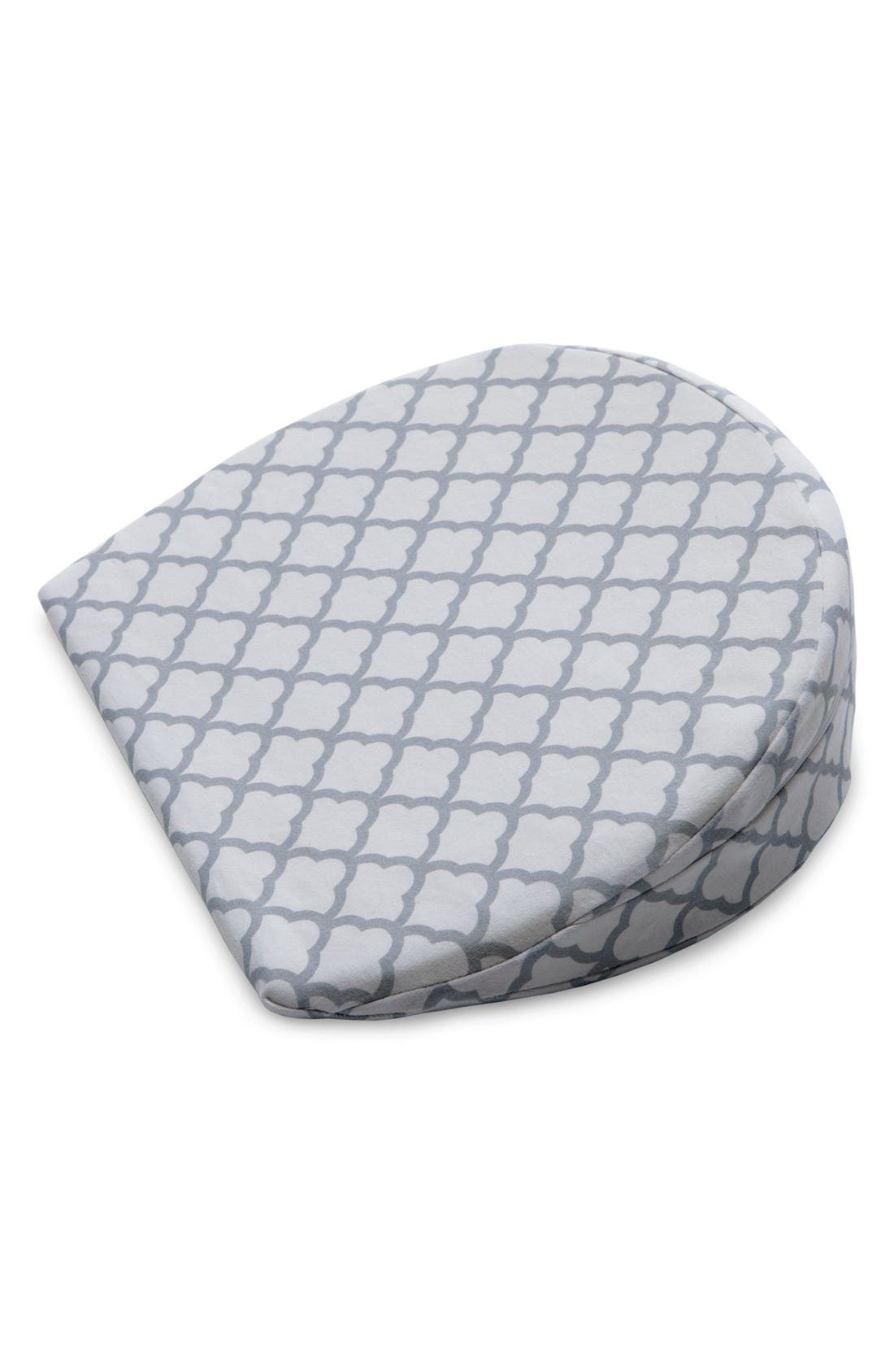 Pregnancy Wedge Cushion & Slipcover,                         Main,                         color, White Trellis