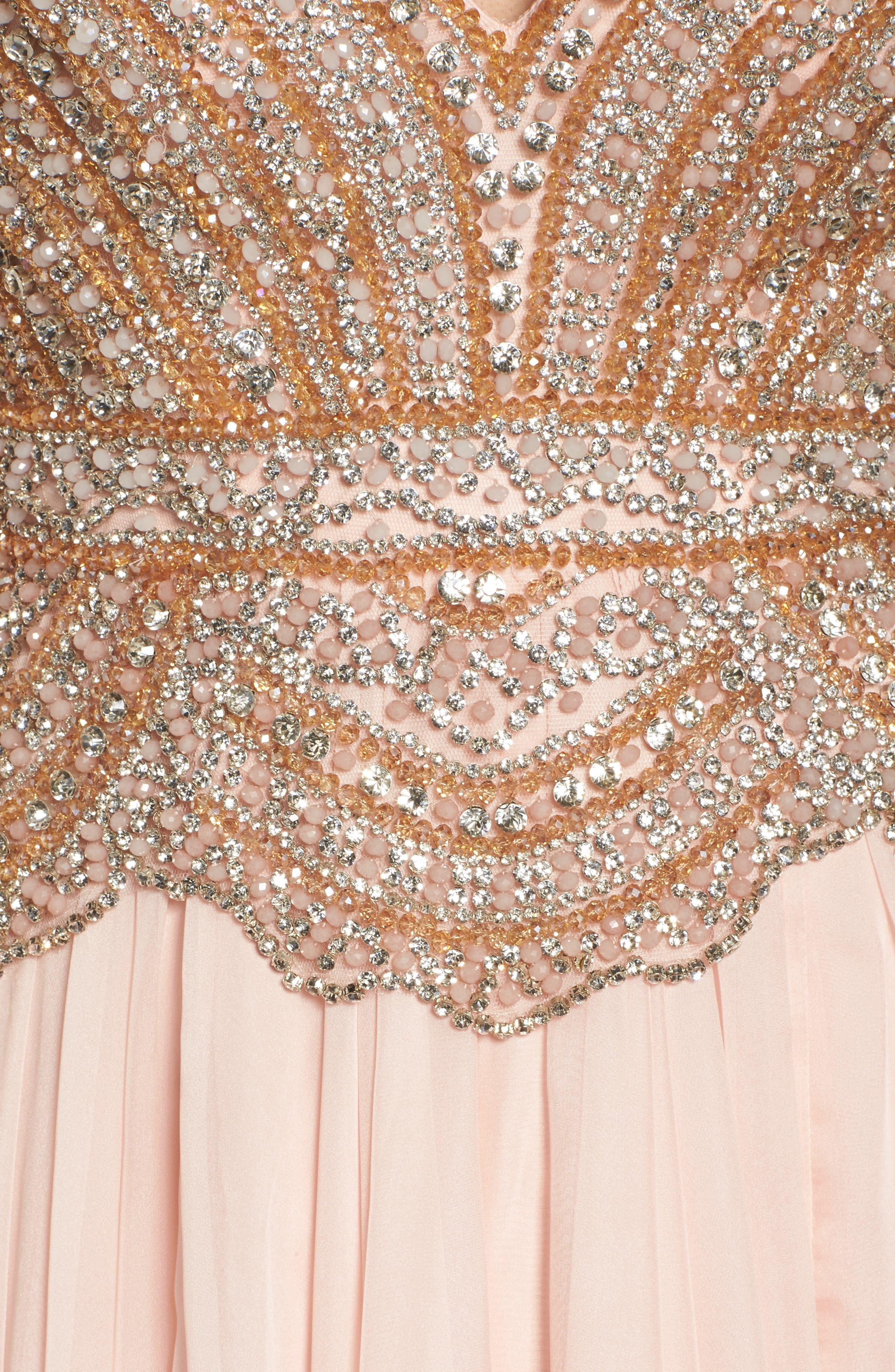 Alternate Image 5  - Mac Duggal Rhinstone Bodice A-Line Chiffon Gown