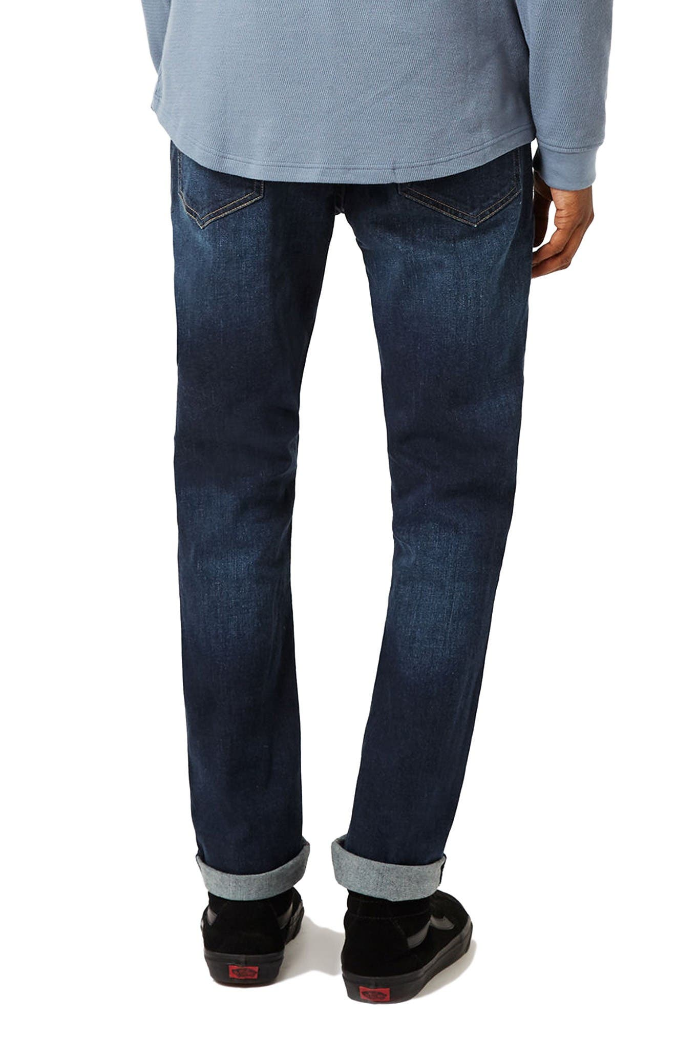 Alternate Image 3  - Topman Stretch Slim Fit Jeans (Mid Blue)